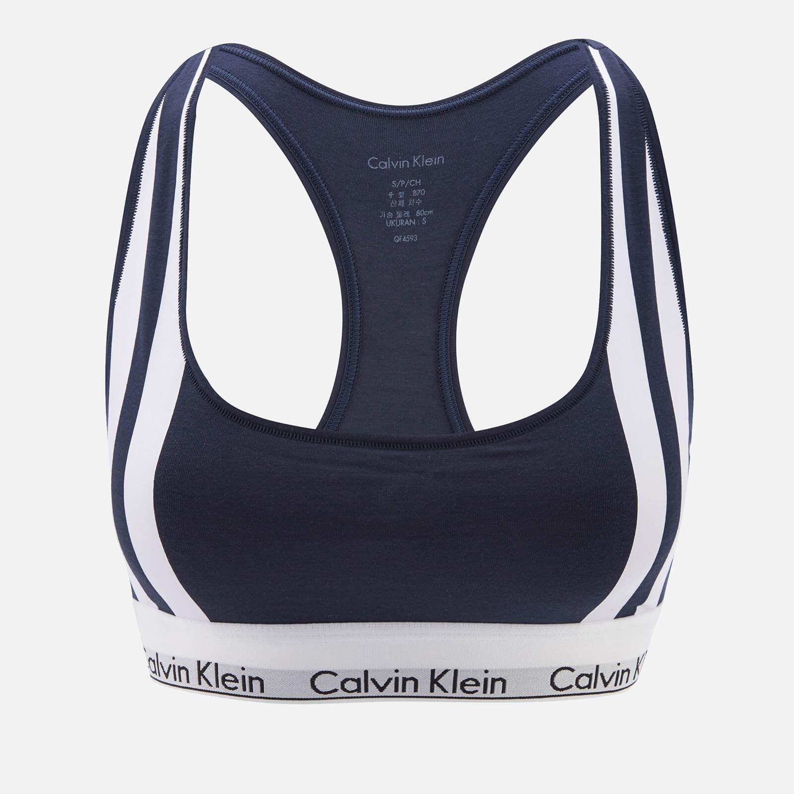 4d6c0dc850b62 Calvin Klein Women s Varsity Stripe Unlined Bralette - Navy - Free UK  Delivery over £50