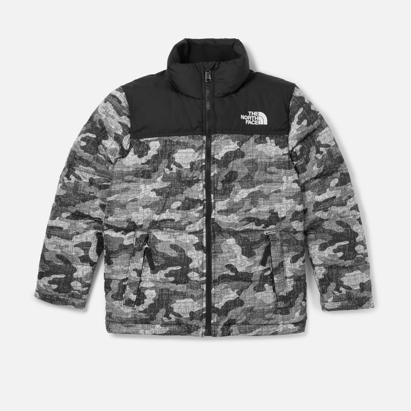 ab3765816fbe The North Face Boys  Nuptse Down Jacket - TNF Black Textured Camo Print  Clothing