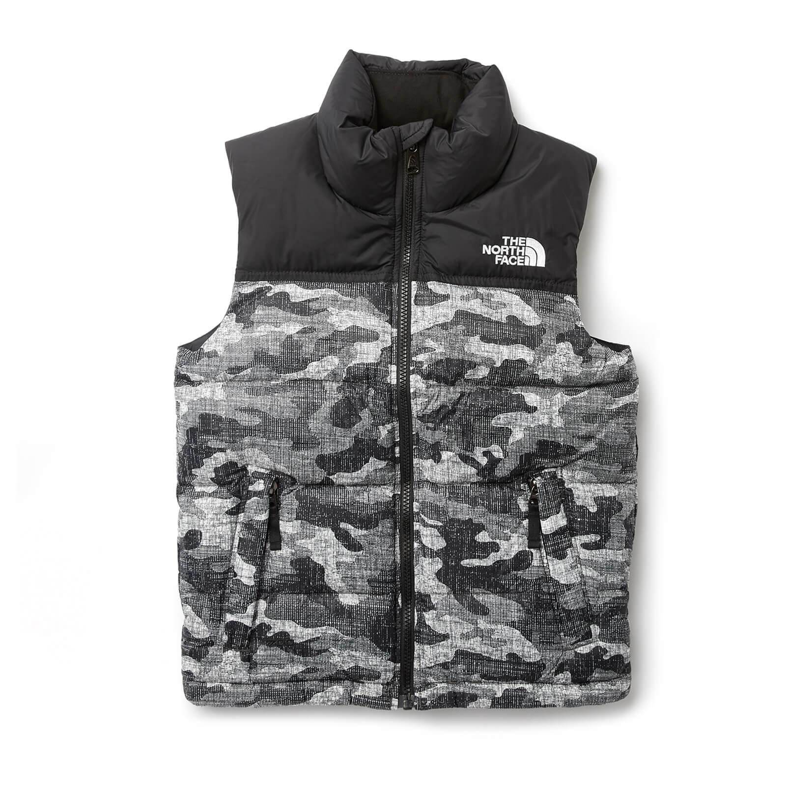 92a5b77f2f27e The North Face Boys' Nuptse Down Vest - TNF Black Textured Camo Print  Clothing | TheHut.com