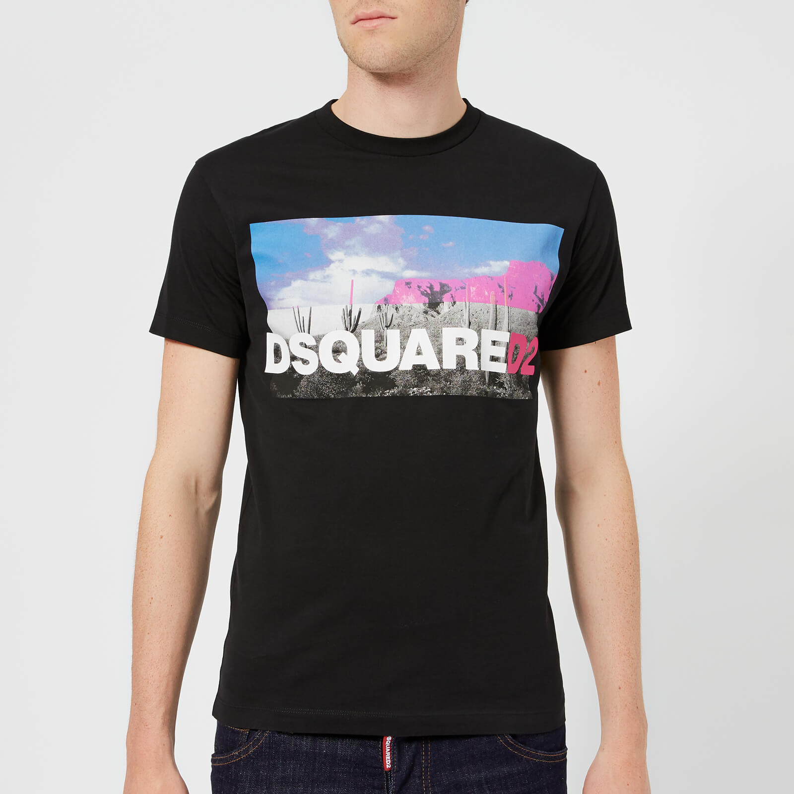 24689f23 Dsquared2 Men's Dan Fit Logo T-Shirt - White - Free UK Delivery over £50