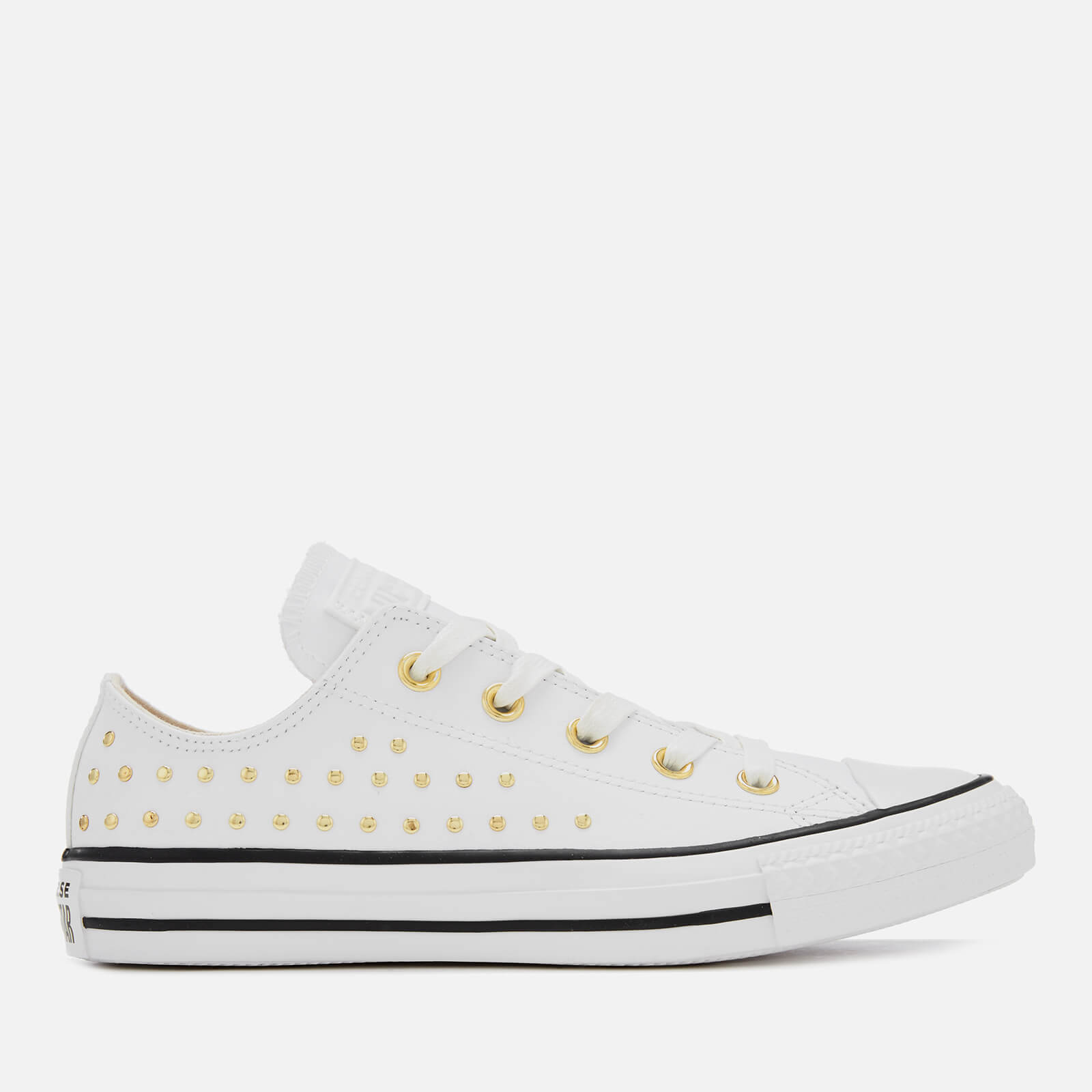 237151ead8df1a Converse Women s Chuck Taylor All Star Ox Trainers - White Gold ...