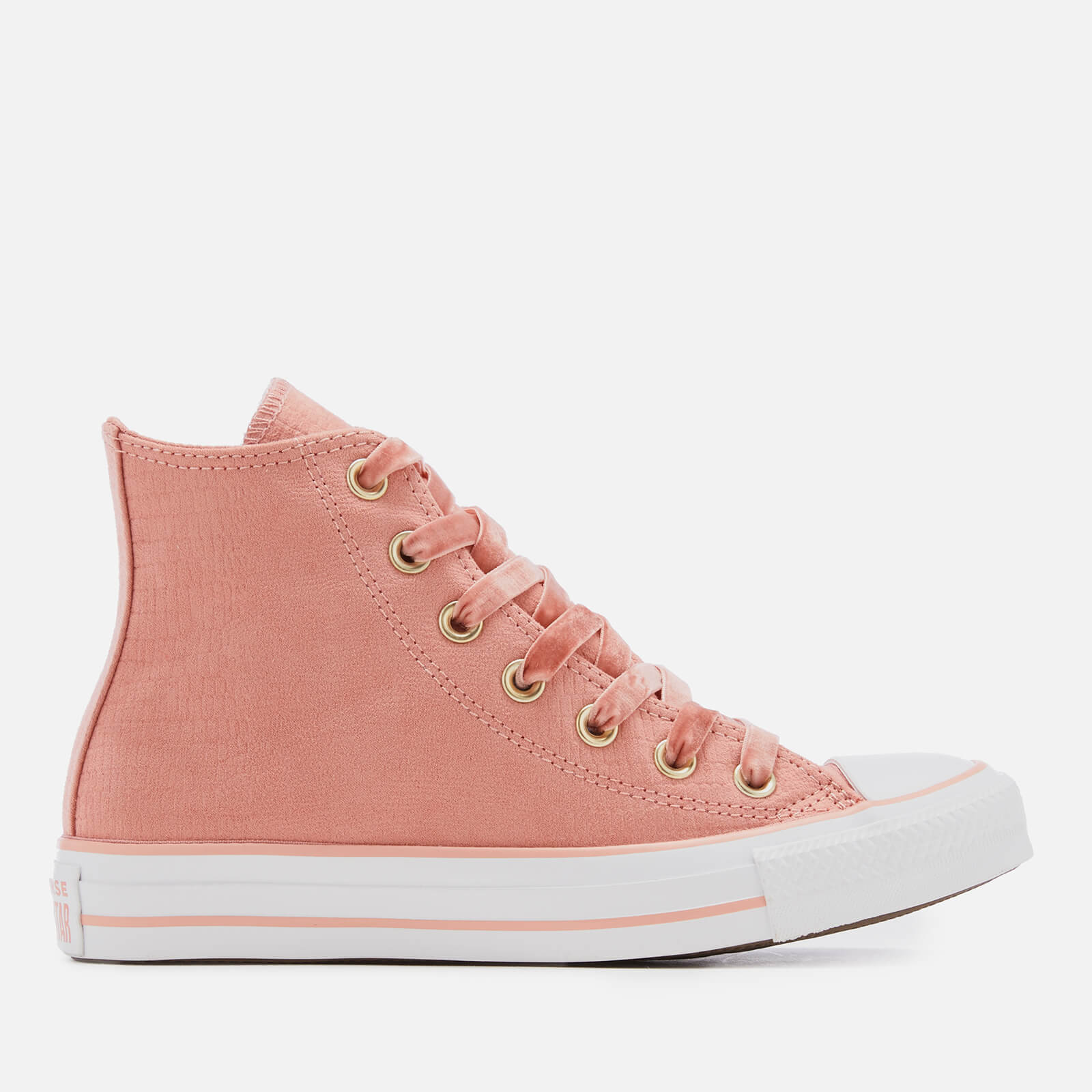 ae9268717bd8 Converse Women s Chuck Taylor All Star Hi-Top Trainers - Rust Pink Black White  Womens Footwear