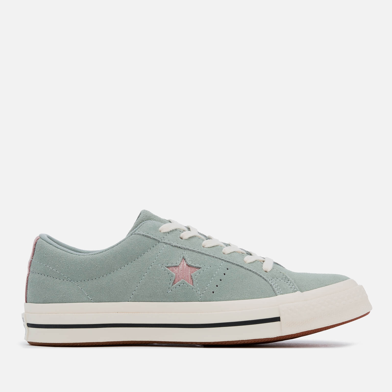 Converse Women's One Star Ox Trainers Mica GreenDiffused TaupeEgret