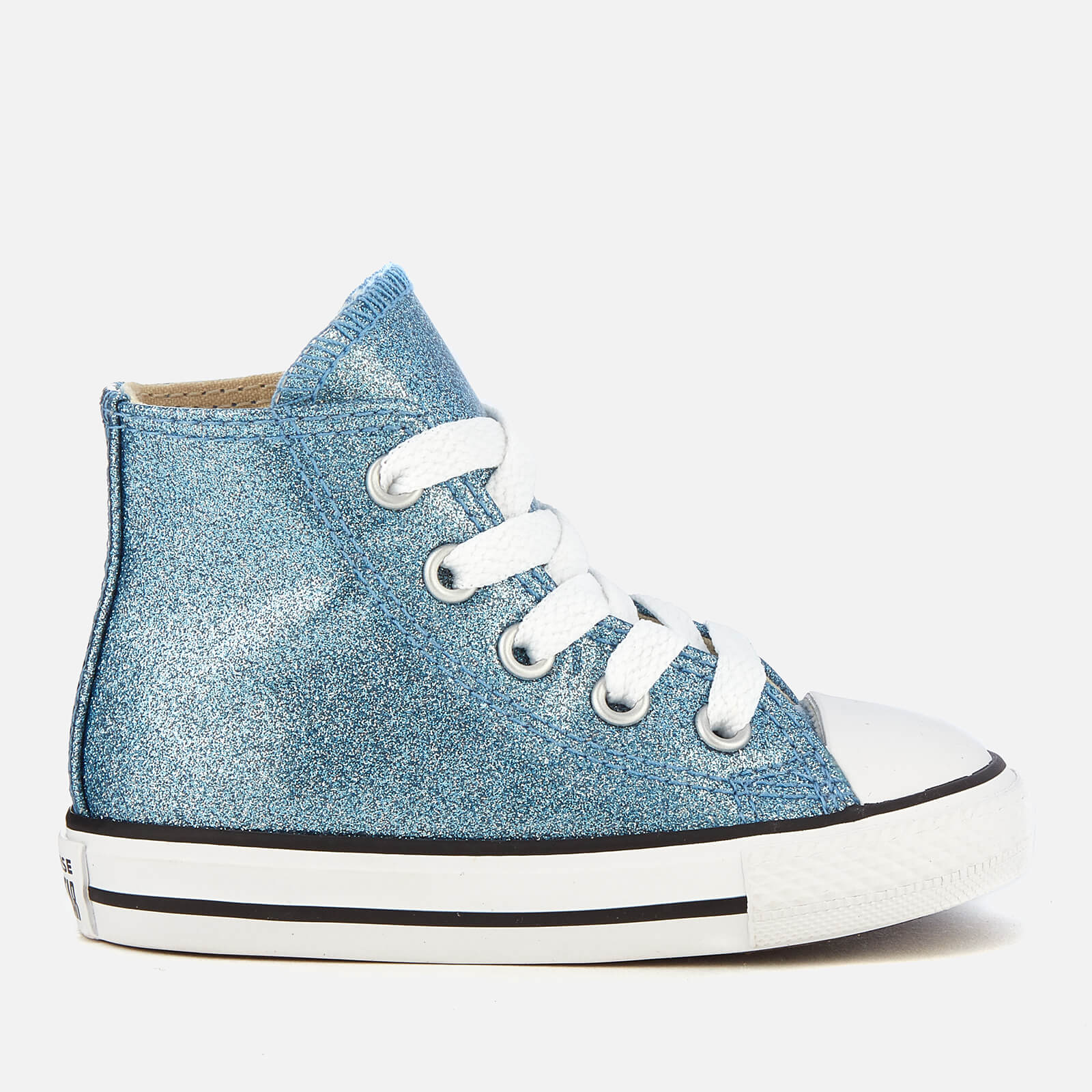 8c1fc438f1e609 Converse Toddlers  Chuck Taylor All Star Hi-Top Trainers - Light Blue  Natural White Junior Clothing