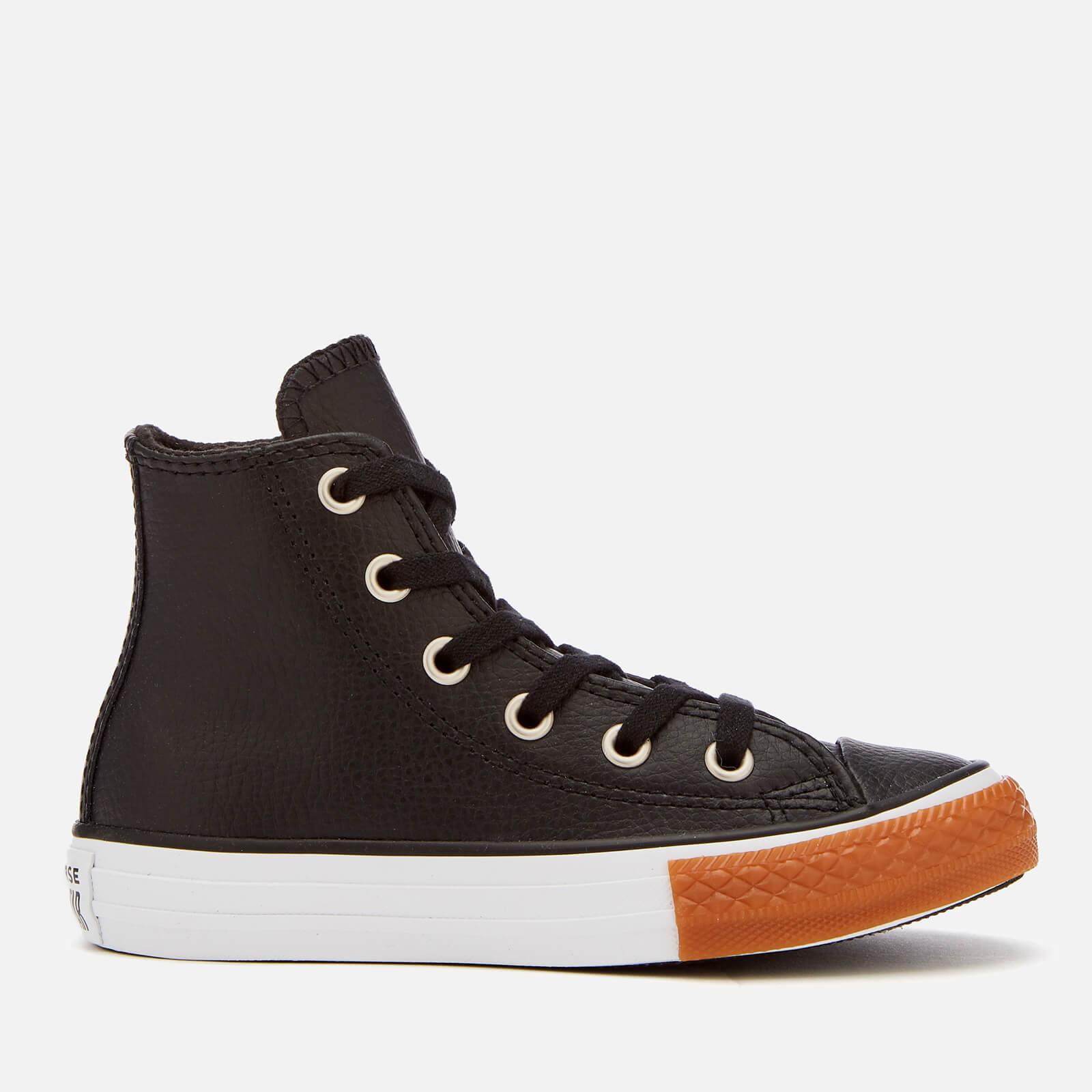 c36005488d41 Converse Kids  Chuck Taylor All Star Hi-Top Trainers - Black White Gum  Honey Junior Clothing
