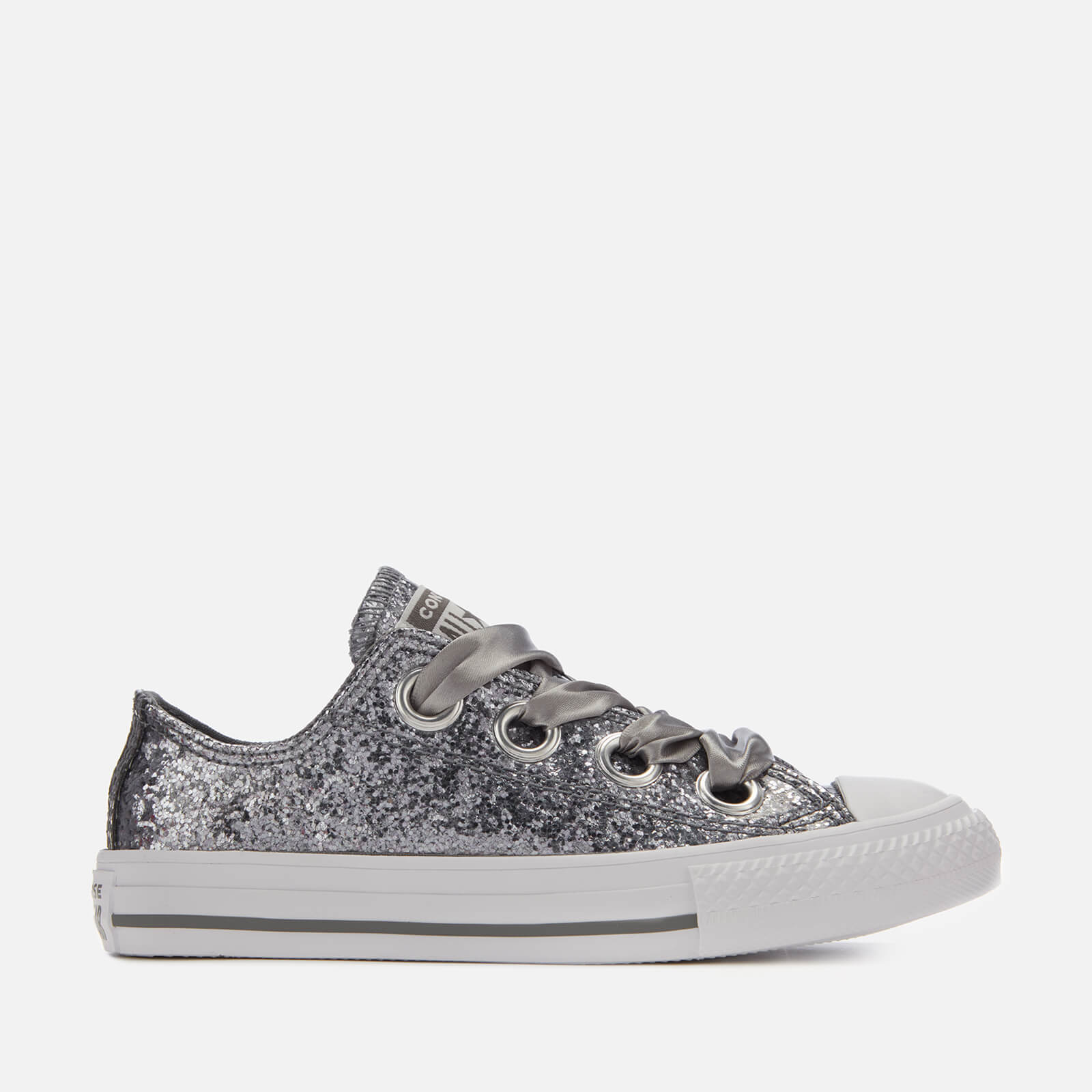 befd654568e6 Converse Kids  Chuck Taylor All Star Big Eyelets Ox Trainers -  Mason White White Junior Clothing