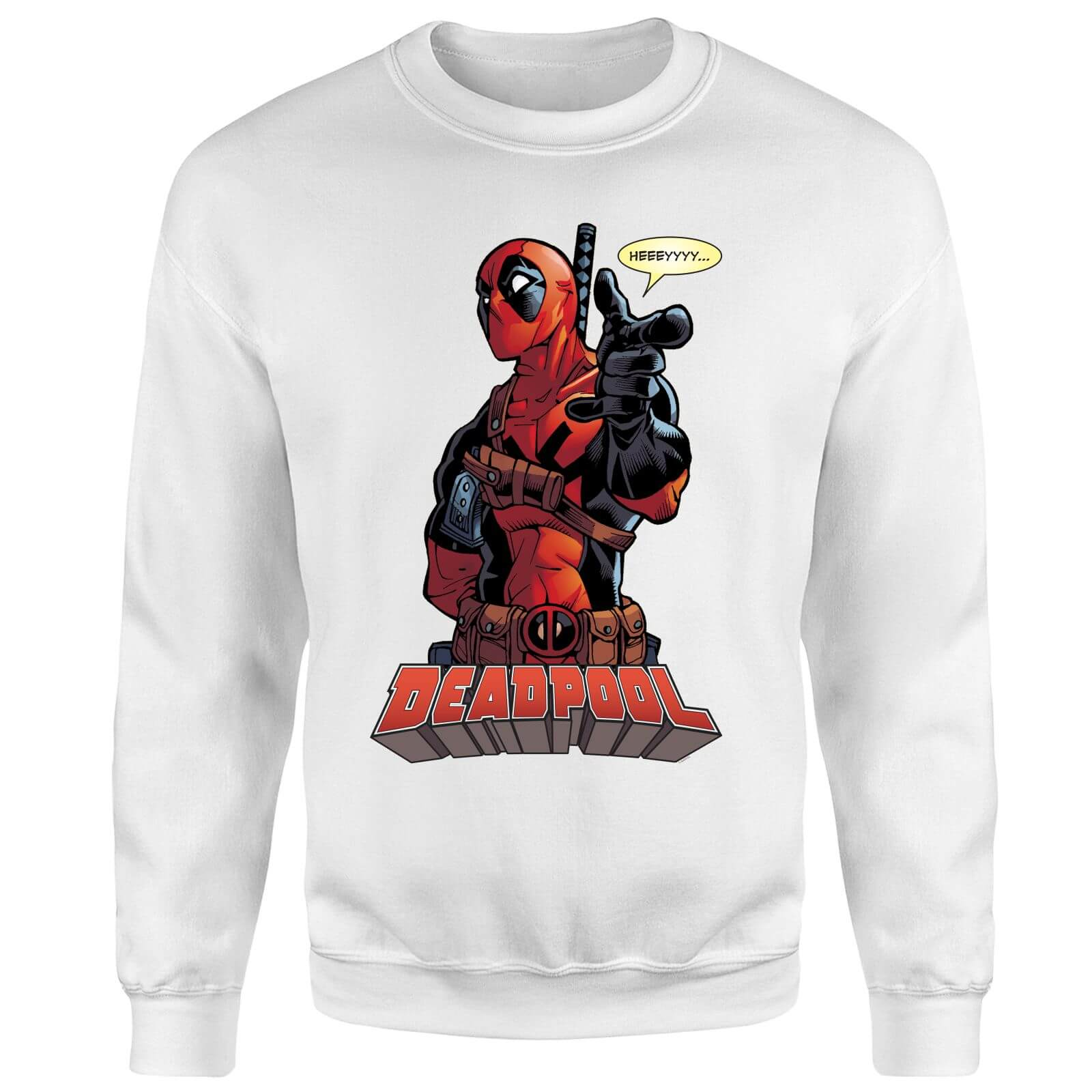 Marvel Deadpool Hey You Sweatshirt - White