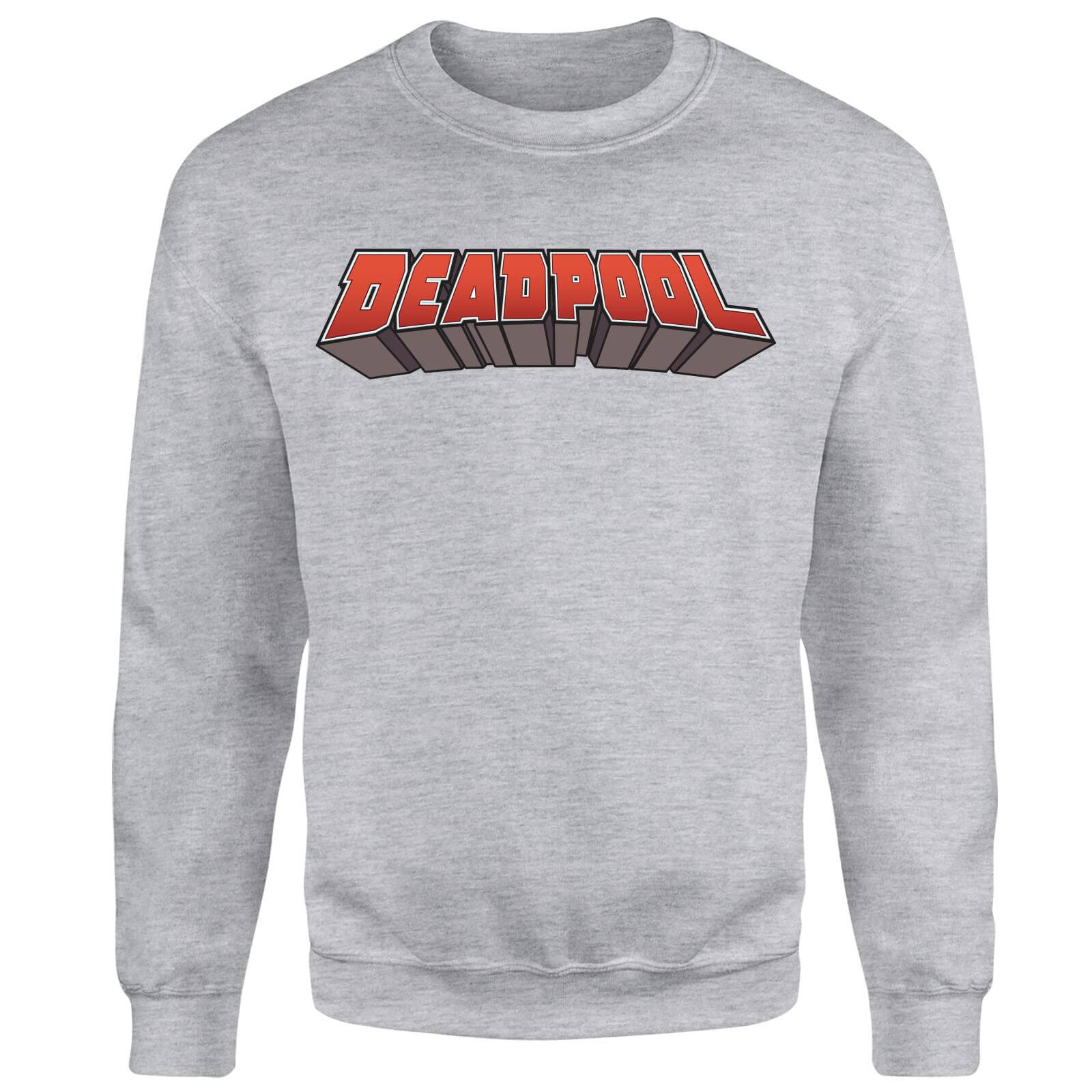 Marvel Deadpool Logo Sweatshirt - Grey