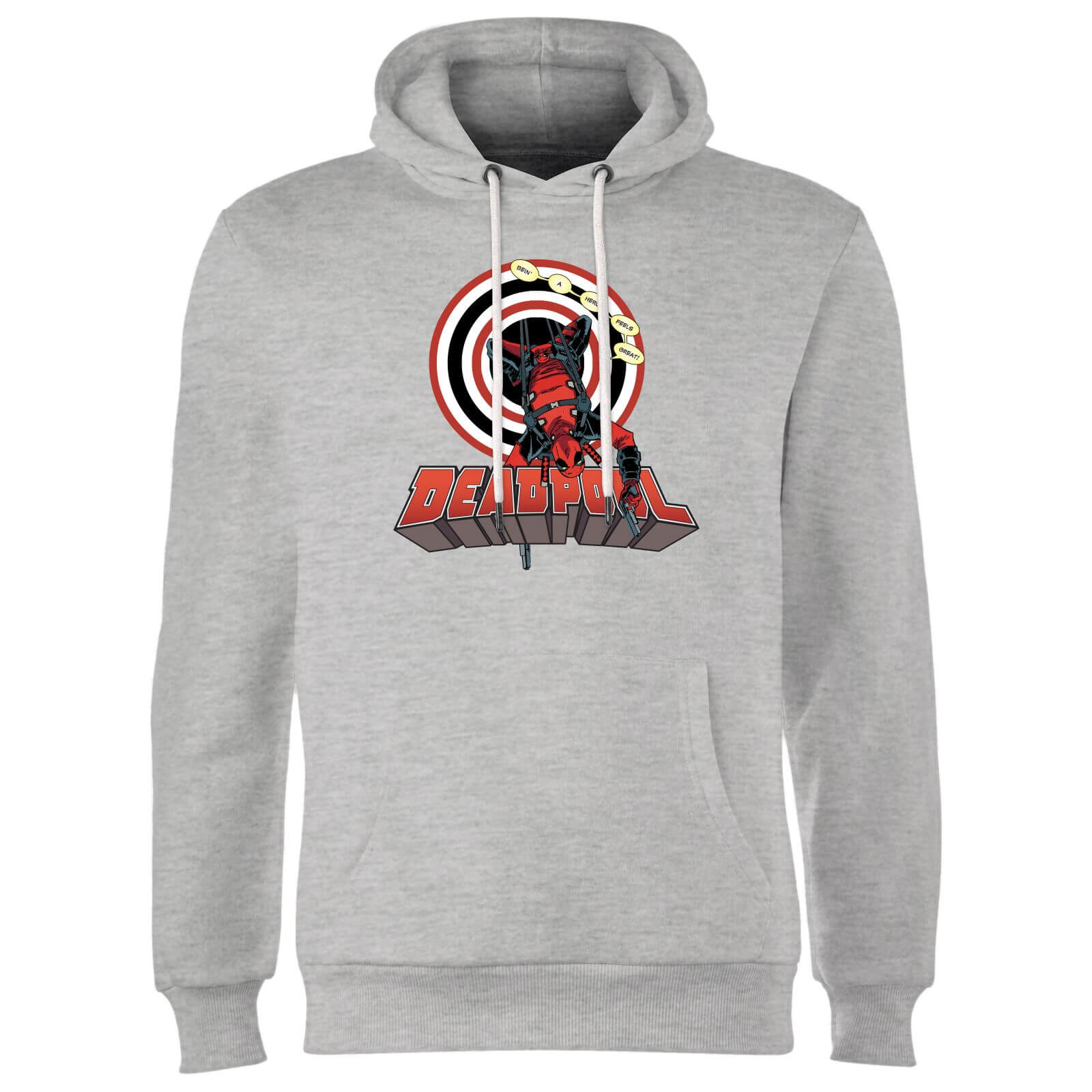 Marvel Deadpool Upside Down Hoodie - Grey
