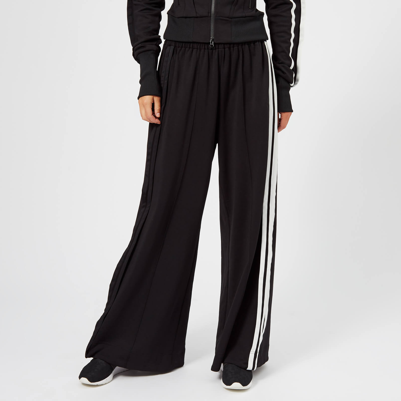 43d4571052567 Y-3 Women s 3 Stripe Selvedge Matte Track Pants - Black Core White - Free  UK Delivery over £50