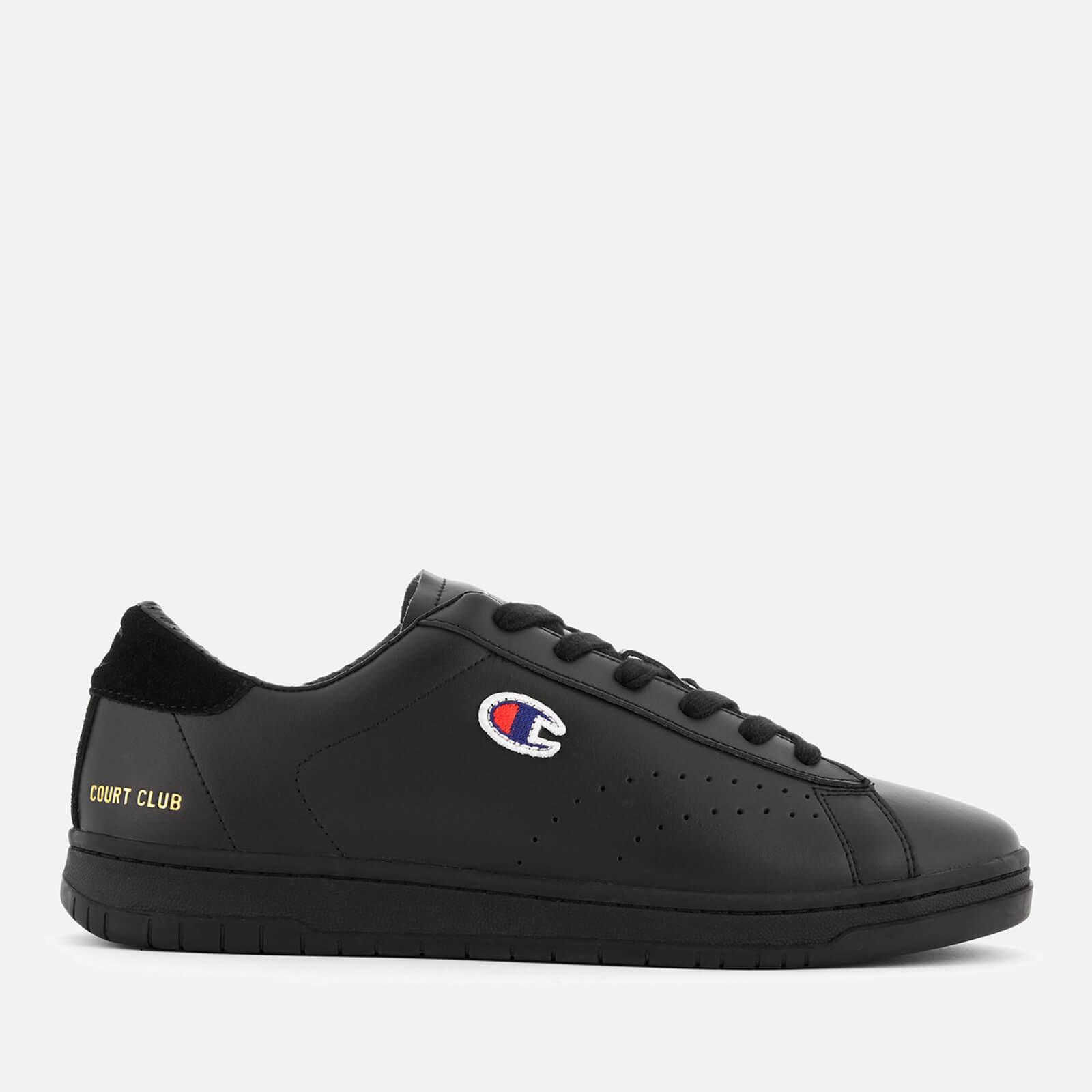 a9169b0a8b2 Champion Men s Court Club Trainers - Black Mens Footwear