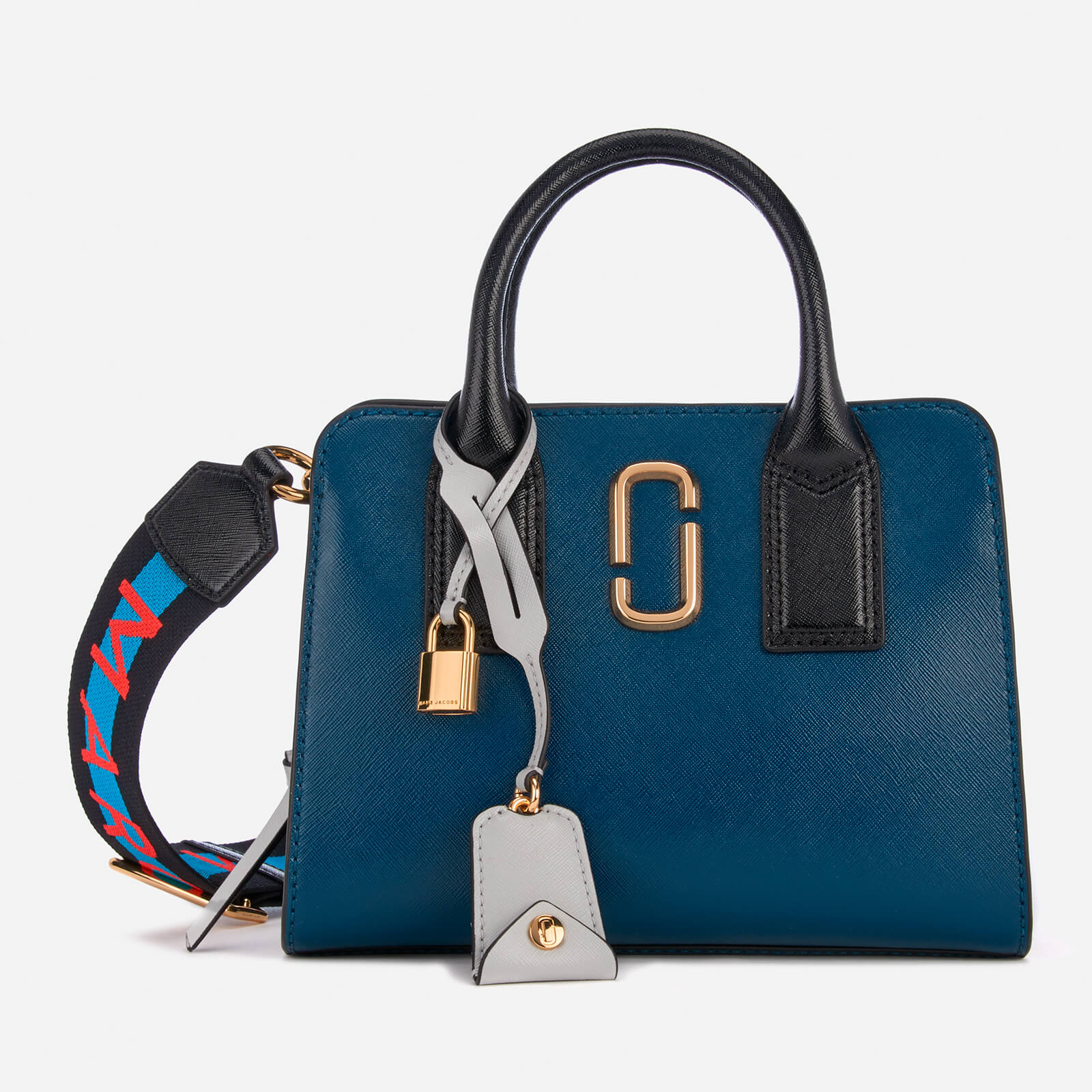 b769ac2a53cb3 Marc Jacobs Women s Little Big Shot Tote Bag - Blue Sea Multi - Free UK  Delivery over £50