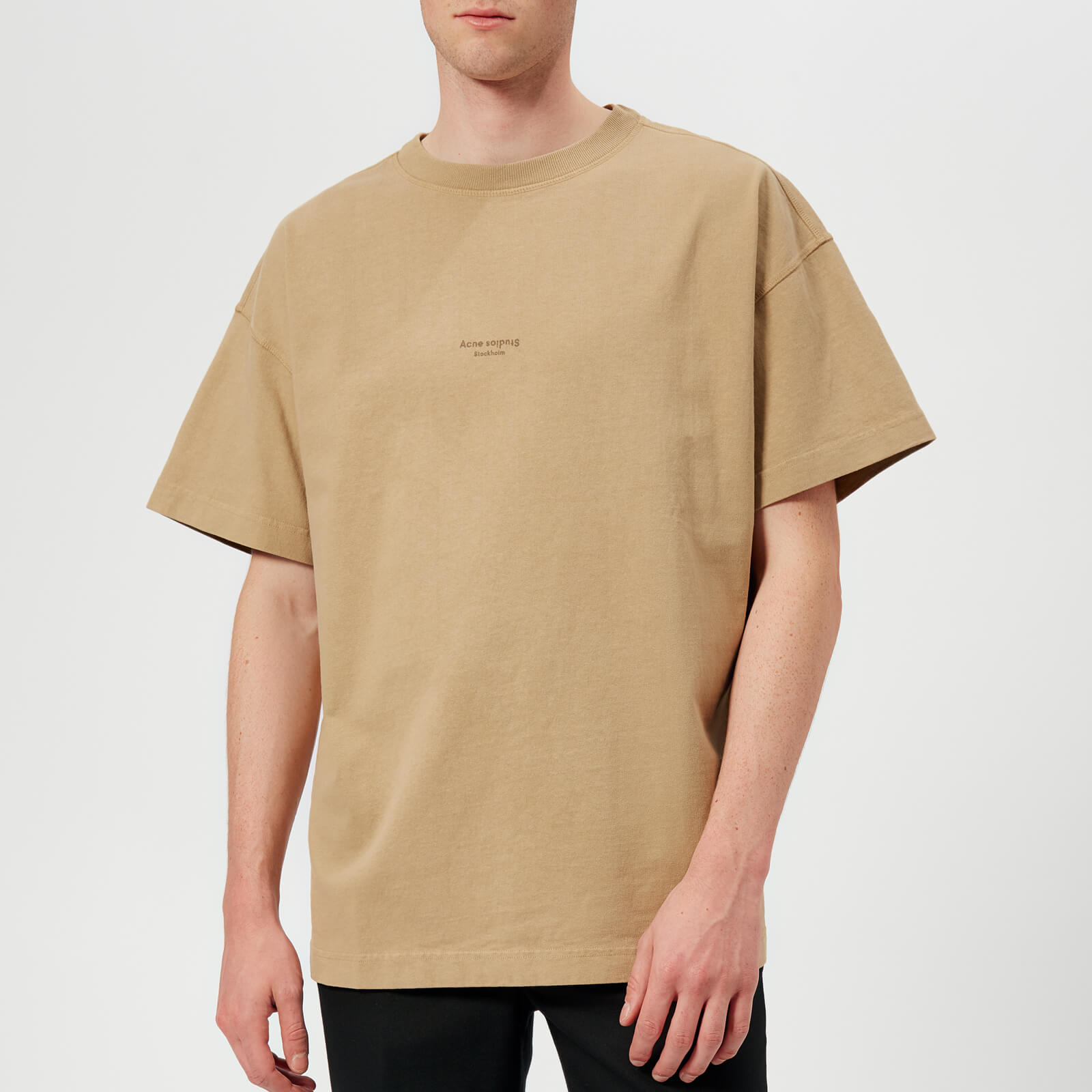 8e1efc648e Acne Studios Men s Jaxon Oversized T-Shirt - Sand Beige - Free UK Delivery  over £50
