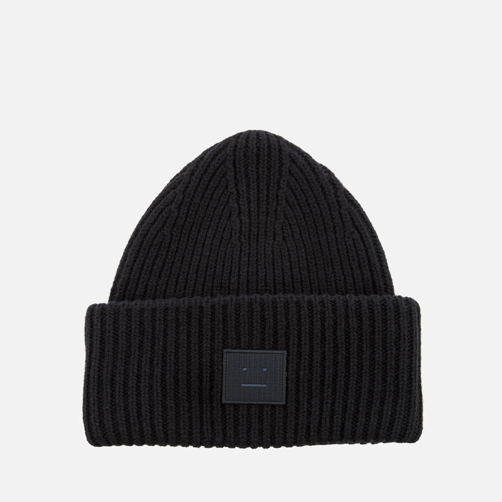 4478b33715d Acne Studios Men s Pansy L Face Beanie Hat - Black - Free UK Delivery over  £50