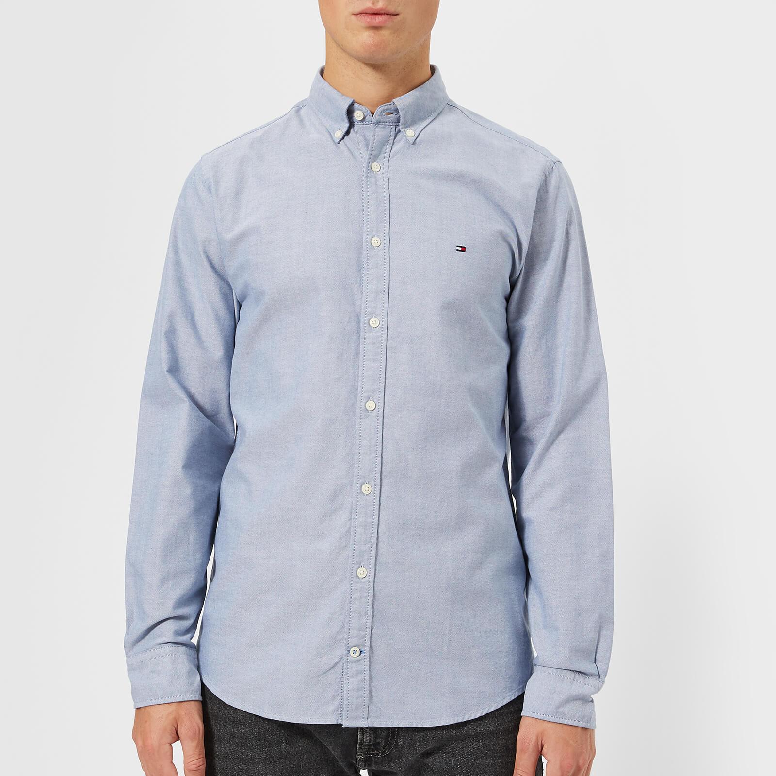42fe41e8e ... Tommy Hilfiger Men's Engineered Oxford Long Sleeve Shirt - Estate Blue