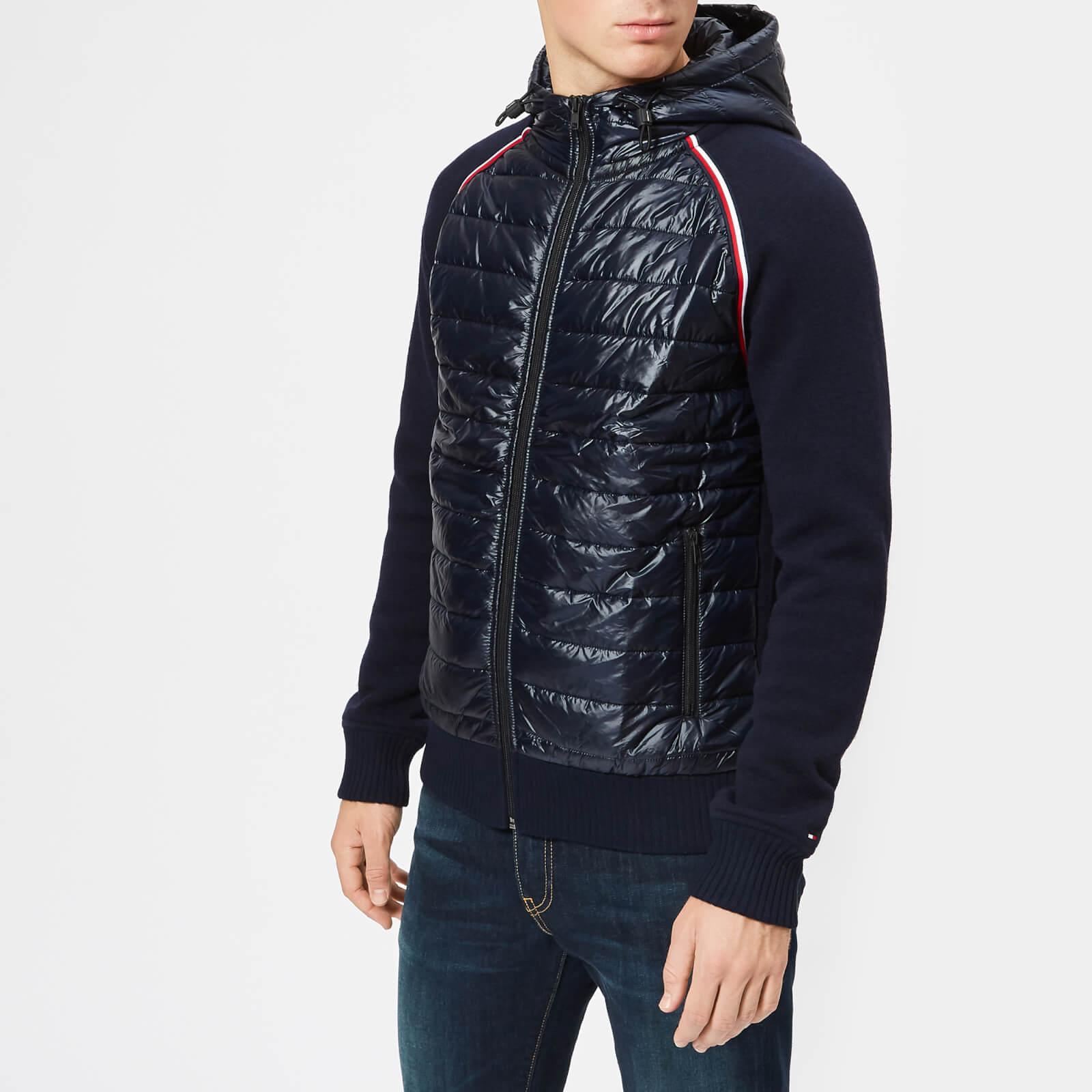 185d532d0e8a7d Tommy Hilfiger Men's Mixed Media Wool Zip Hoodie - Sky Captain Mens Clothing  | TheHut.com