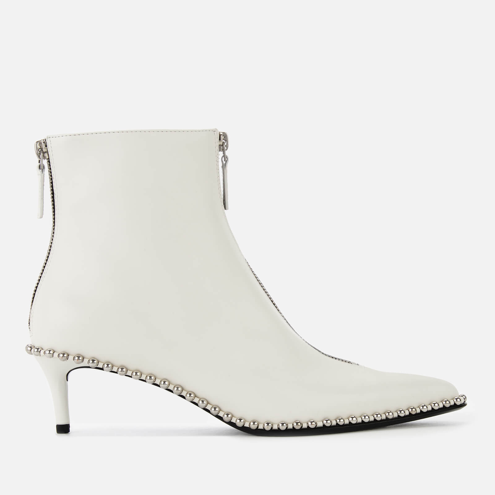 d1e6bad164f Alexander Wang Women s Eri Low Heel Leather Ankle Boots - White - Free UK  Delivery over £50