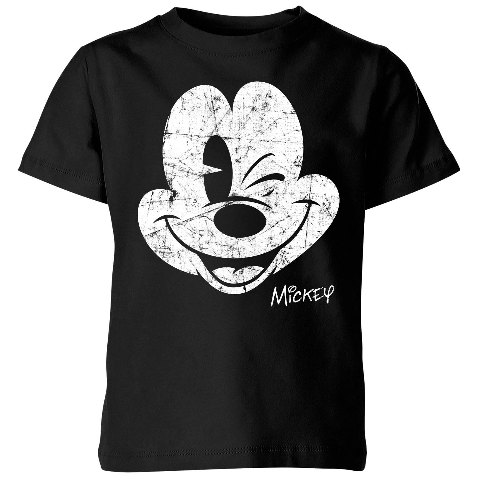 df5ec15d2 Disney Worn Face Kids  T-Shirt - Black Clothing