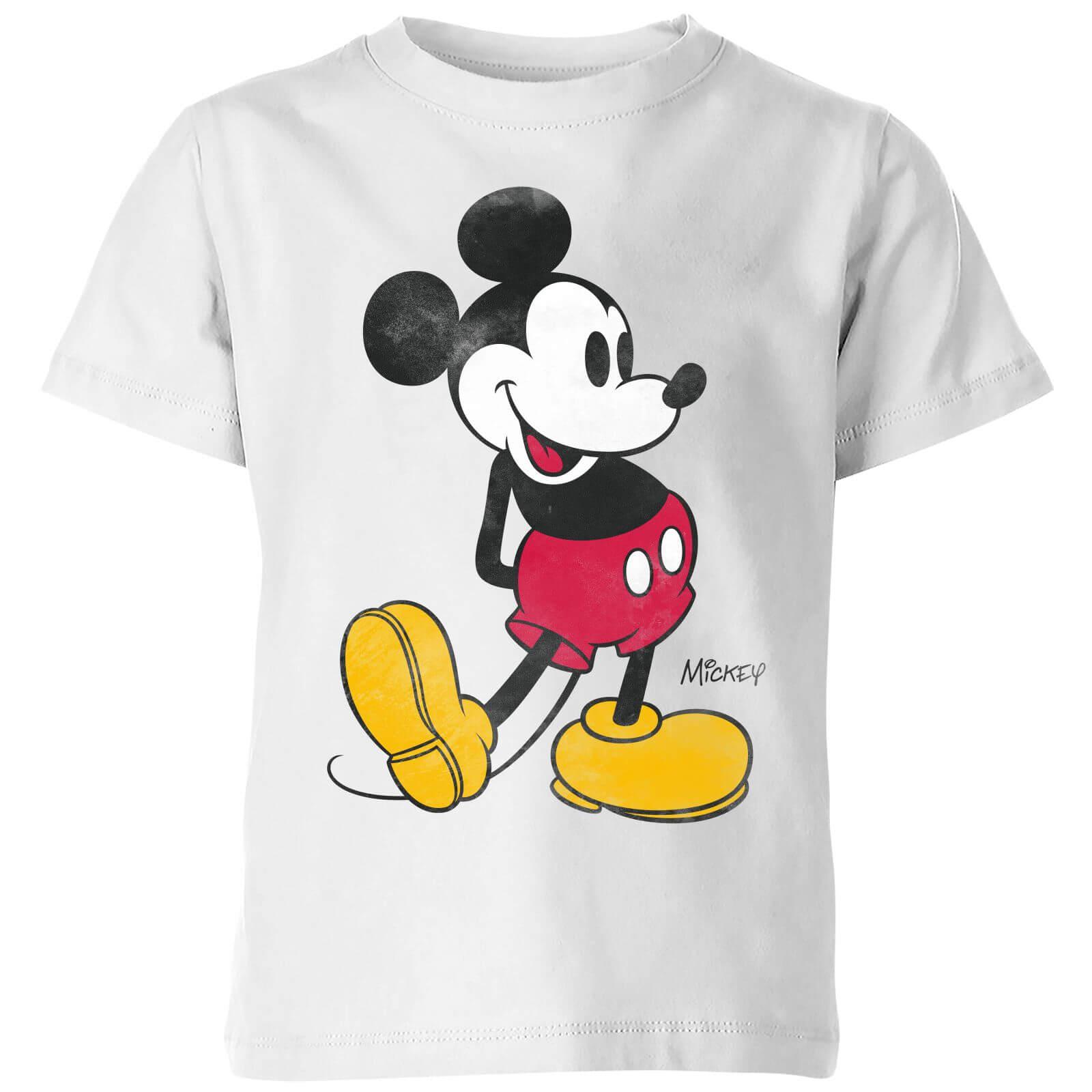 Disney Mickey Mouse Classic Kick Kinder T-Shirt - Weiß