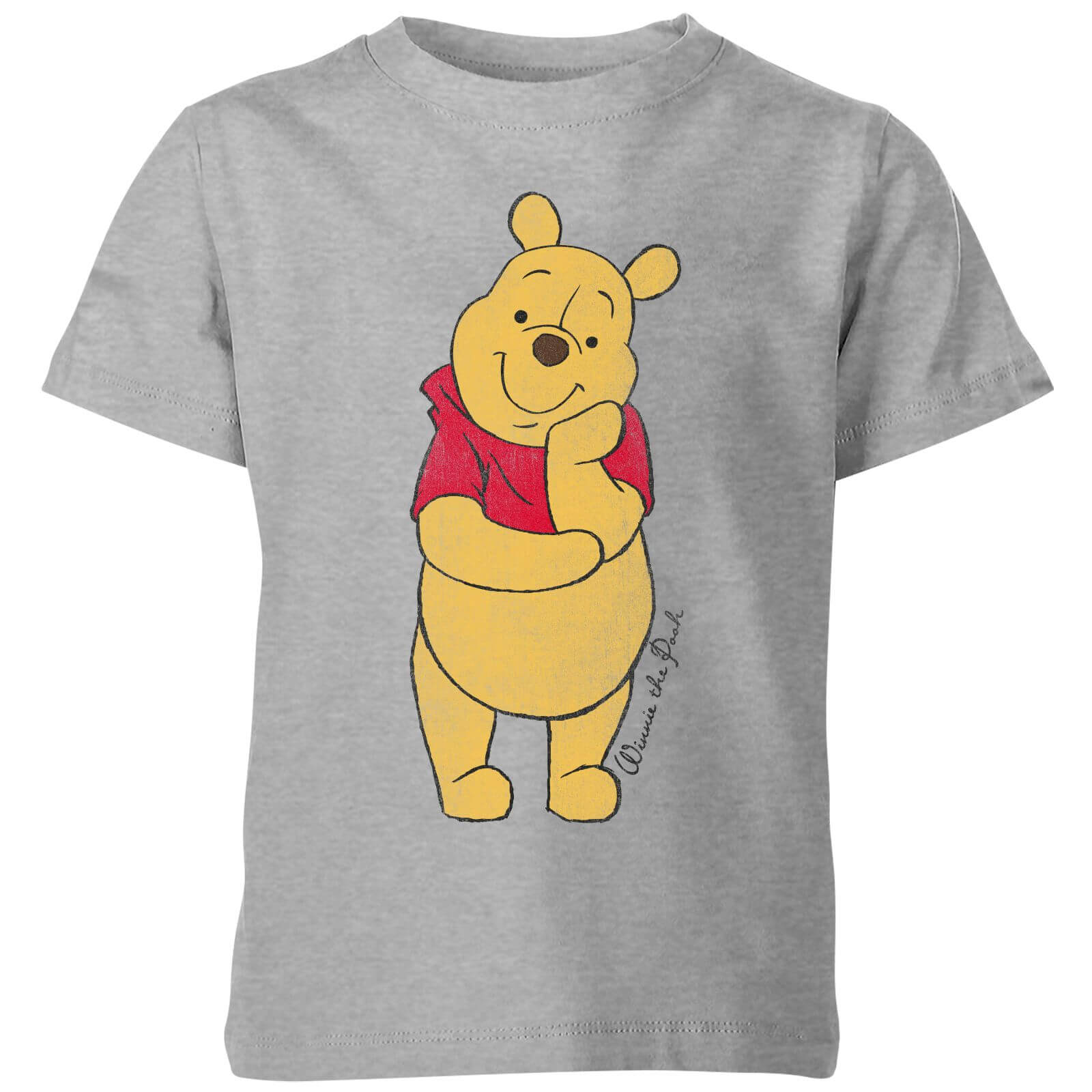 f8fb1bf066f0 Disney Winnie The Pooh Classic Kids  T-Shirt - Grey Clothing