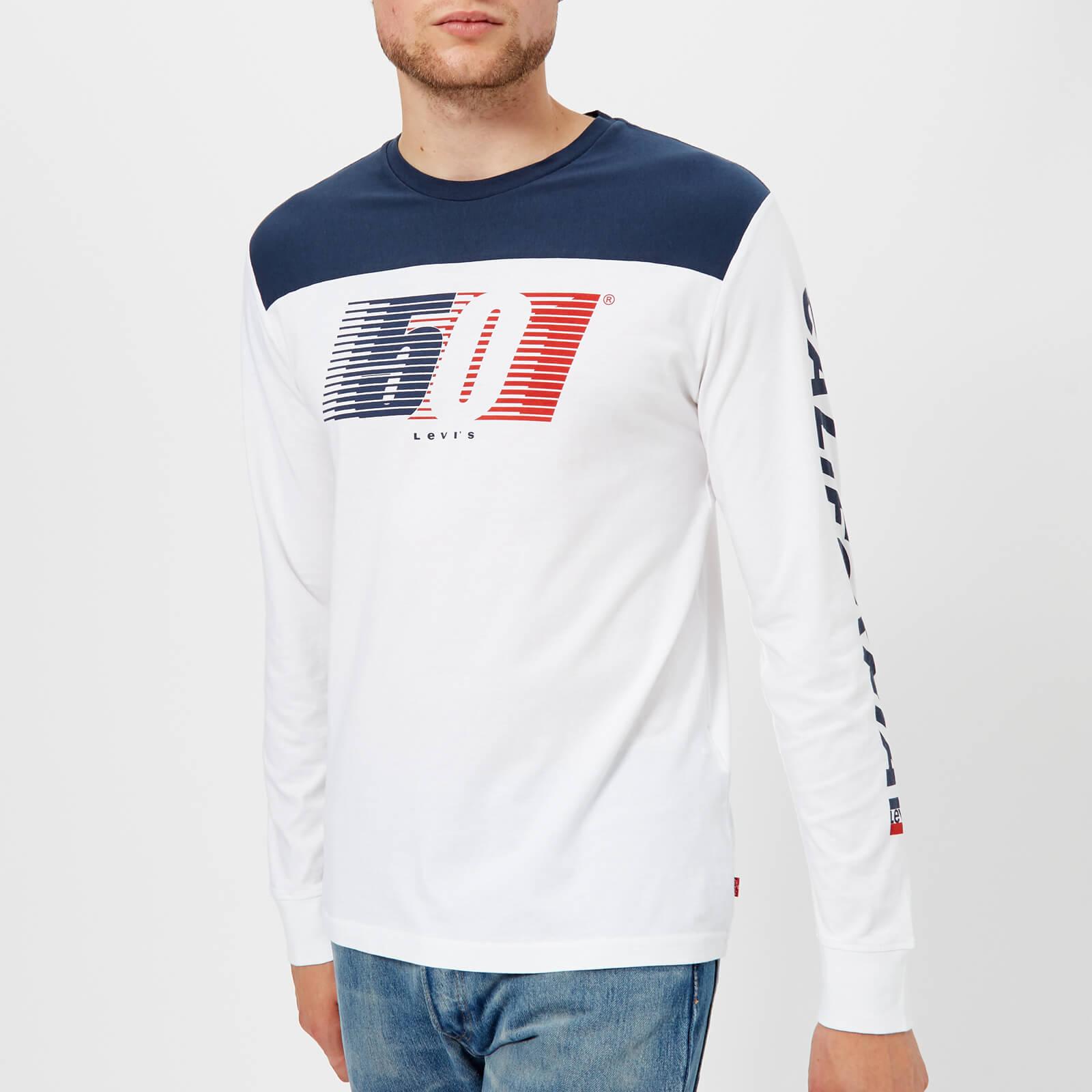 1386bce241e722 Levi's Men's Long Sleeve Graphic T-Shirt - White Clothing | TheHut.com