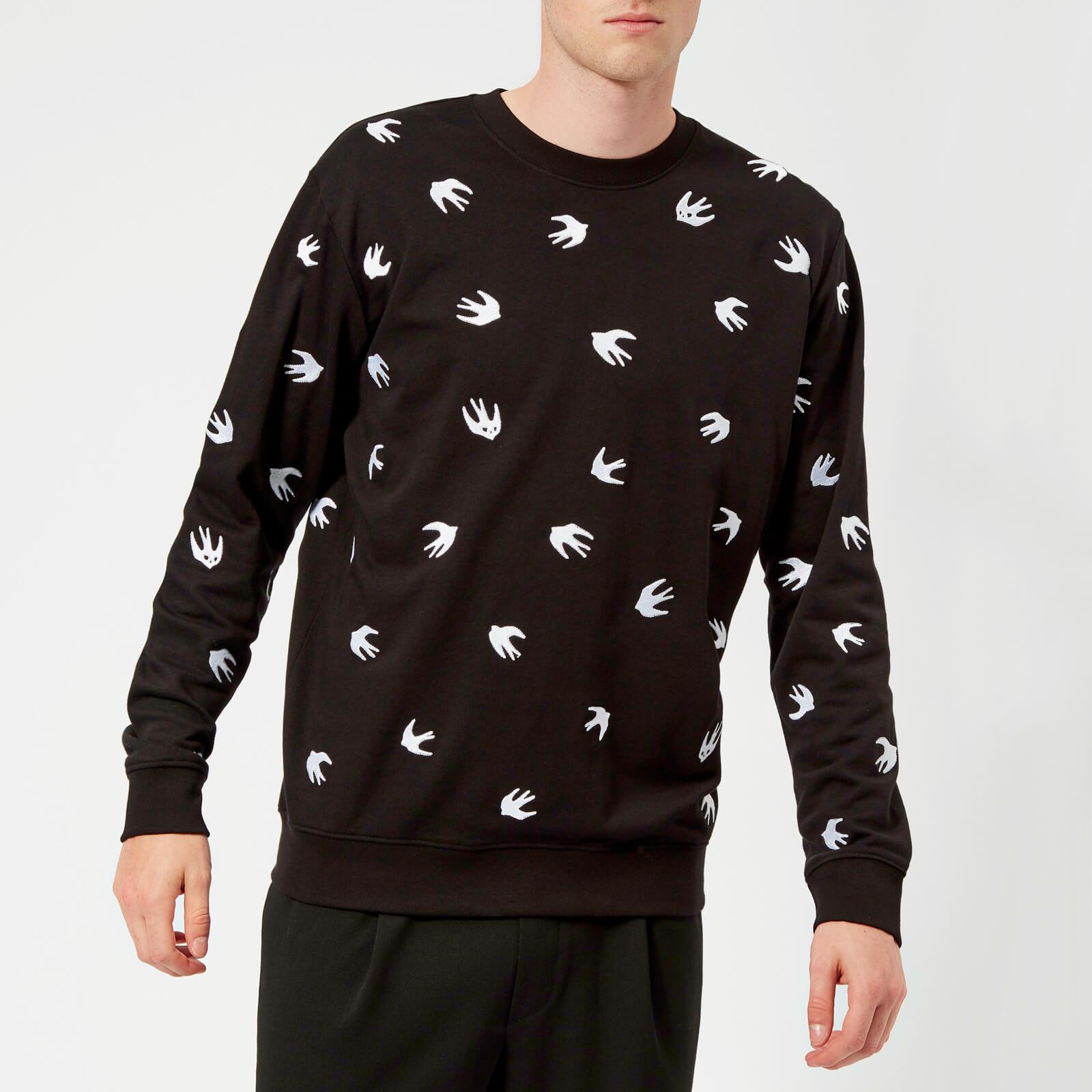 f1310127665 ... McQ Alexander McQueen Men s All Over Swallow Sweatshirt - Darkest Black