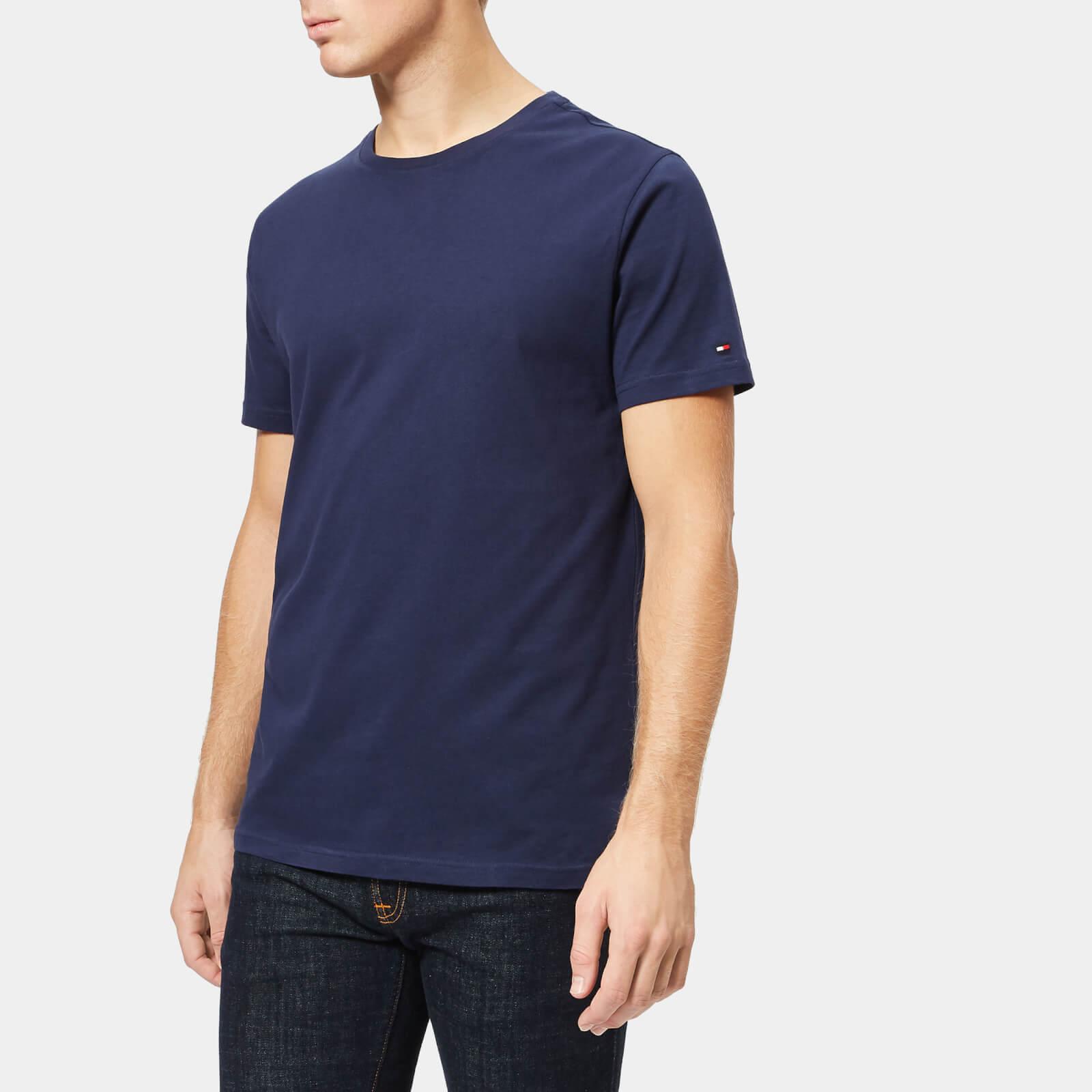 92b8d6b90 Tommy Hilfiger Men's 2 Pack Short Sleeve Crew Neck T-Shirt - Navy Clothing  | TheHut.com