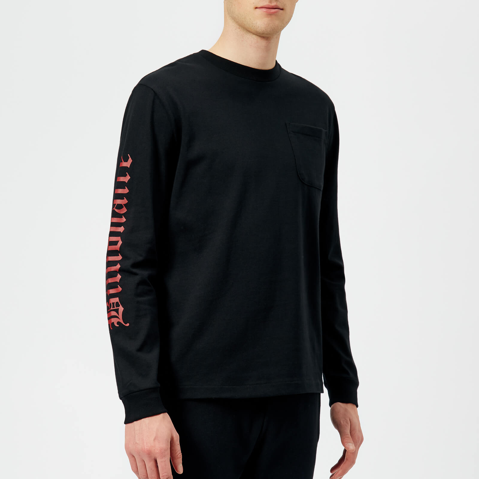 28fc9776 Billionaire Boys Club Men's College Long Sleeve T-Shirt - Black - Free UK  Delivery over £50