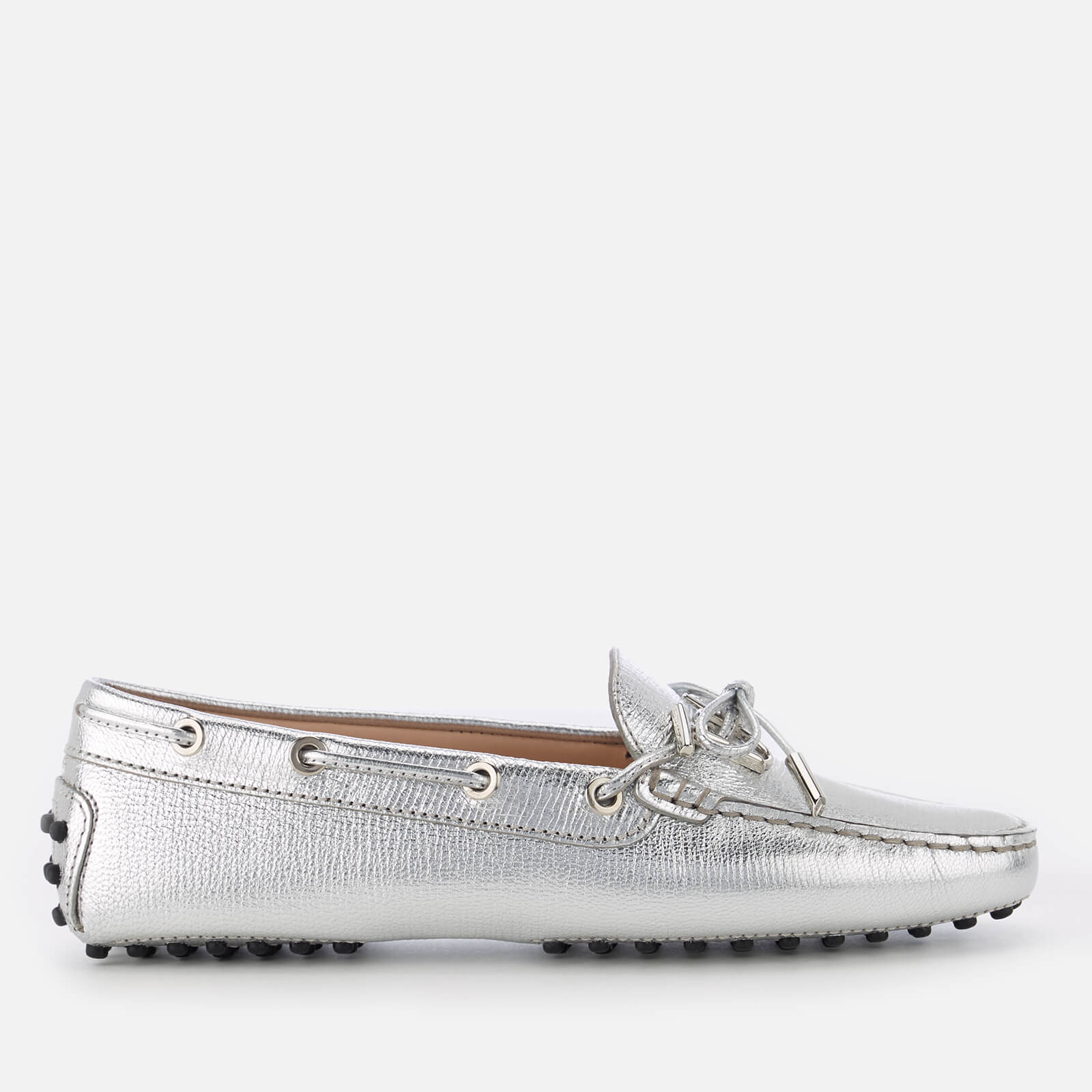 a773182dce Tod's Women's Leather Driving Shoes - Silver - Free UK Delivery over £50