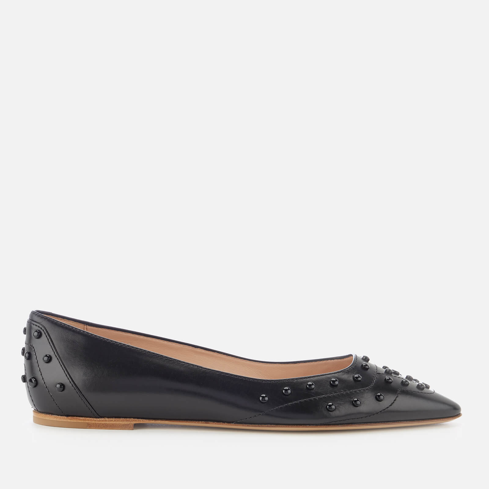 fc0cb93c22 Tod's Women's Pointed Ballet Flats - Black - Free UK Delivery over £50