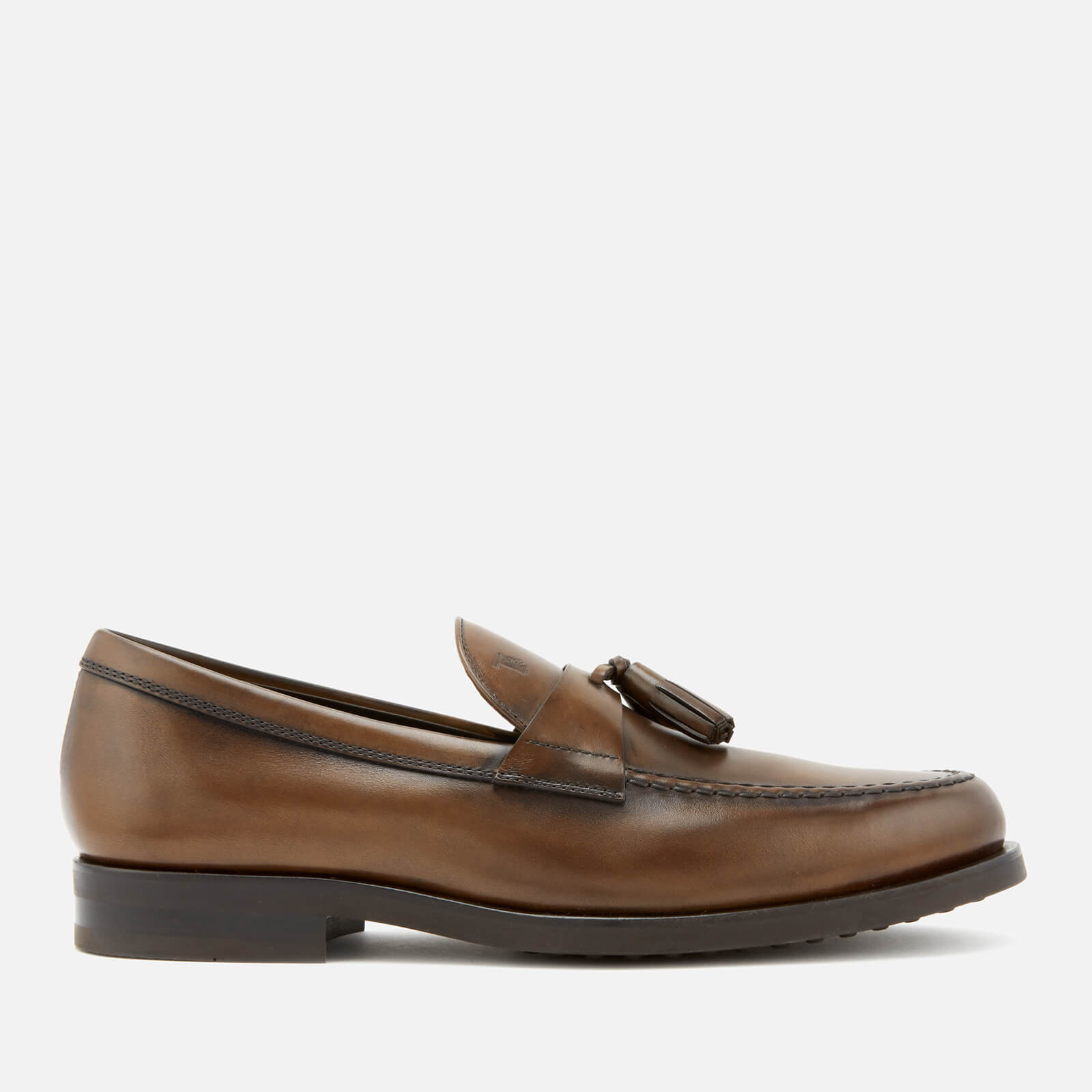 97d29db5ffc Tod s Men s Leather Tassel Loafers - Brown - Free UK Delivery over £50