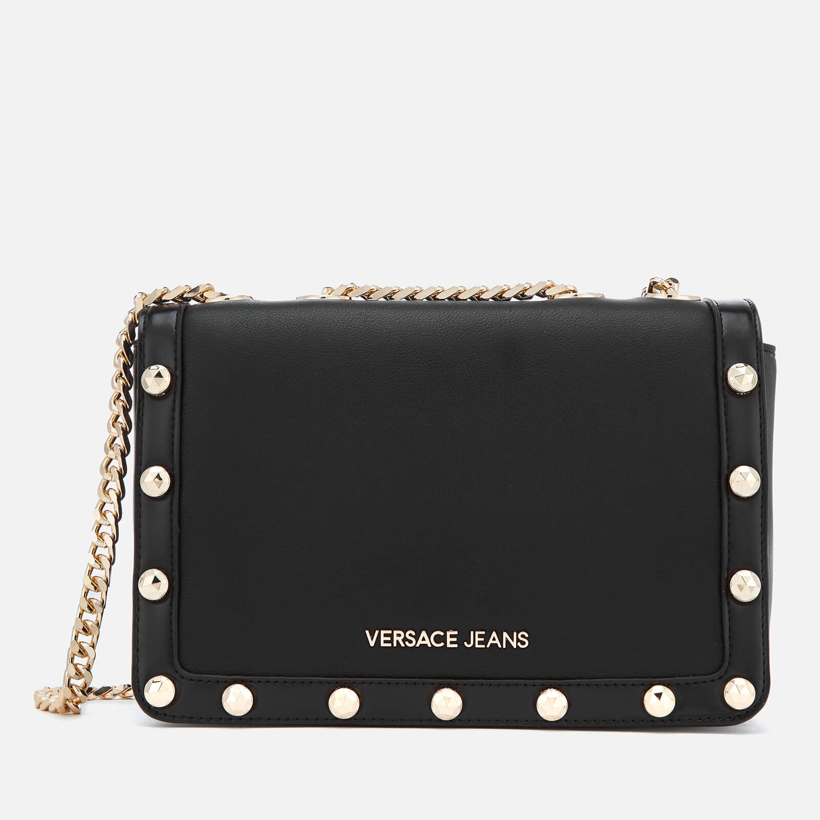 20b6b073df1 Versace Jeans Women's Logo Chain Handle Cross Body Bag - Black Clothing |  TheHut.com