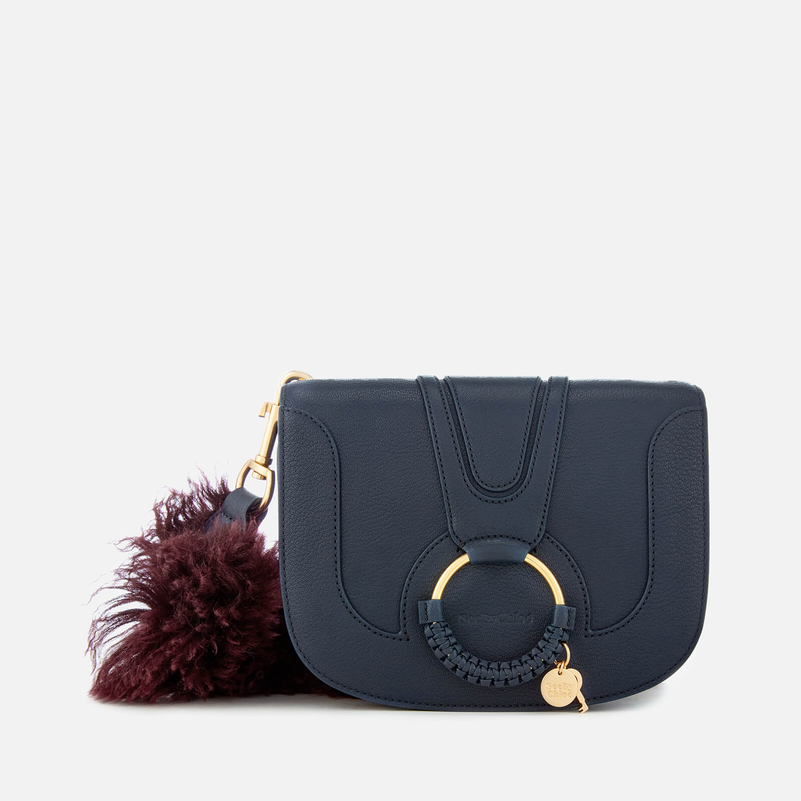 828e8fde30 See By Chloé Women s Hana Fur Strap Shoulder Bag - Ultramarine - Free UK  Delivery over £50