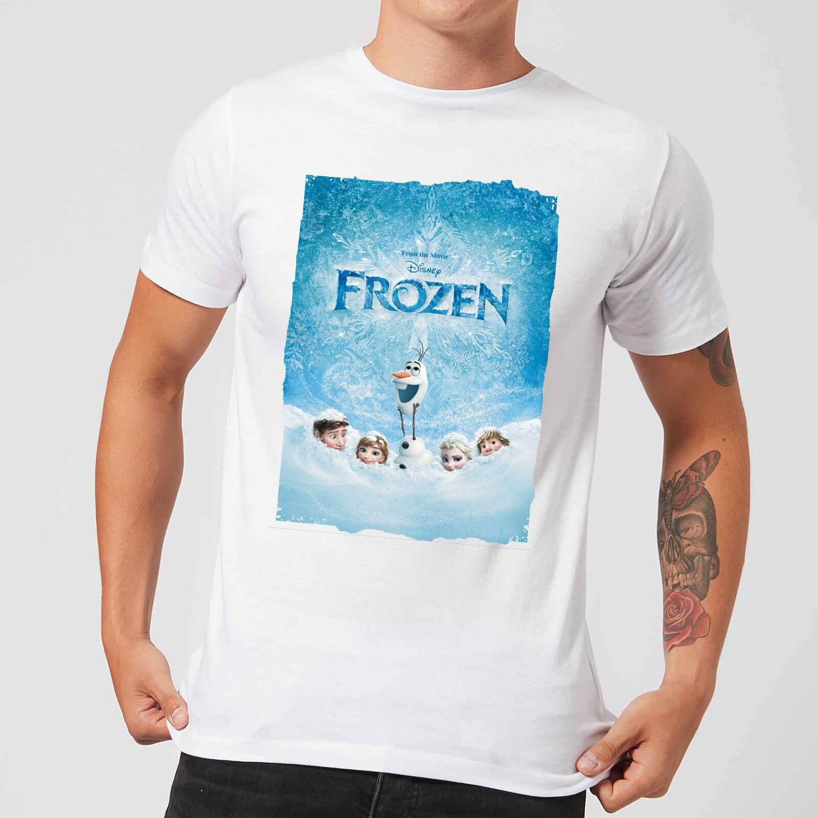 Disney Frozen Blanco Póster Camiseta Hombre BsCxtrhQd