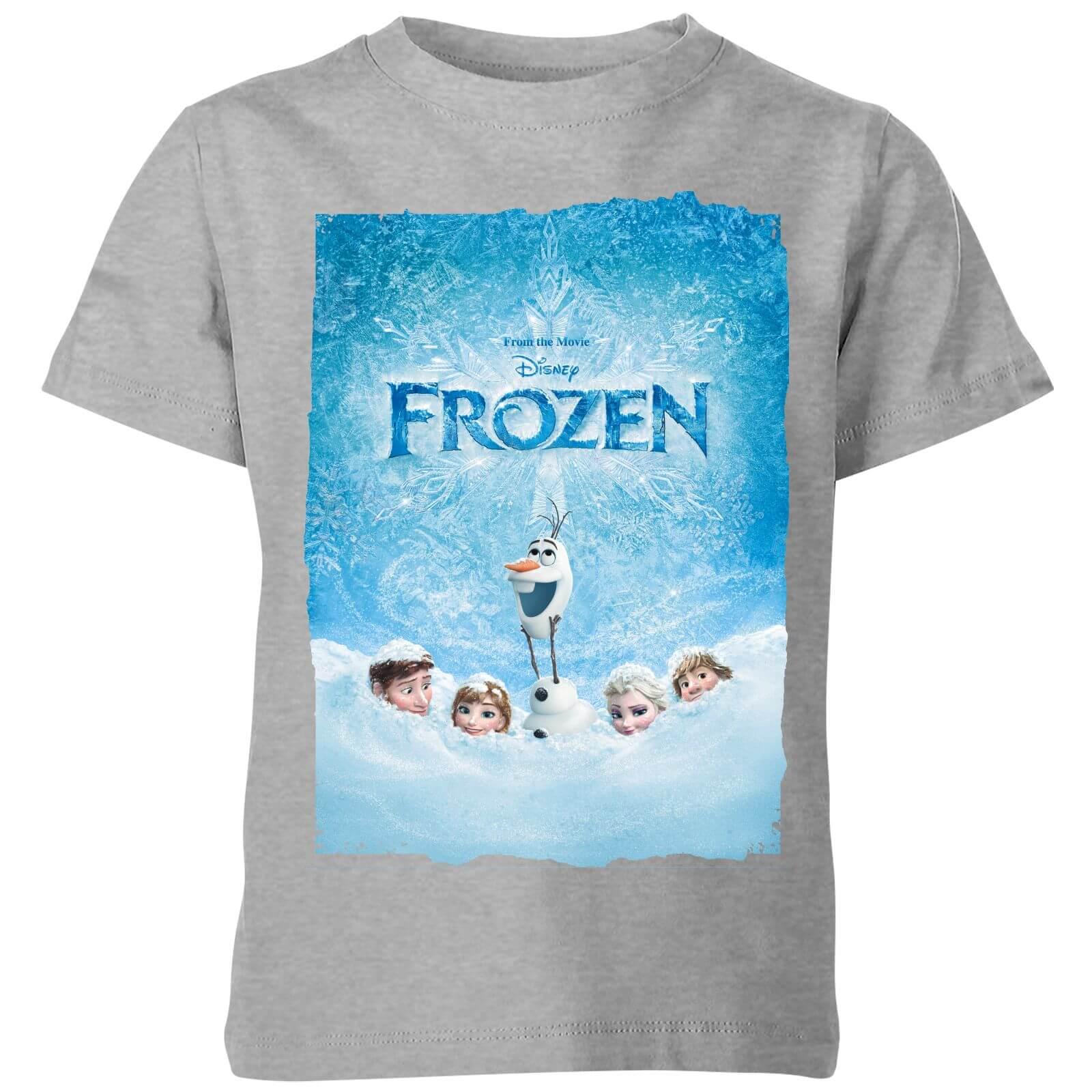 e69b0b2d6 Camiseta Disney Frozen Póster - Niño - Gris Clothing