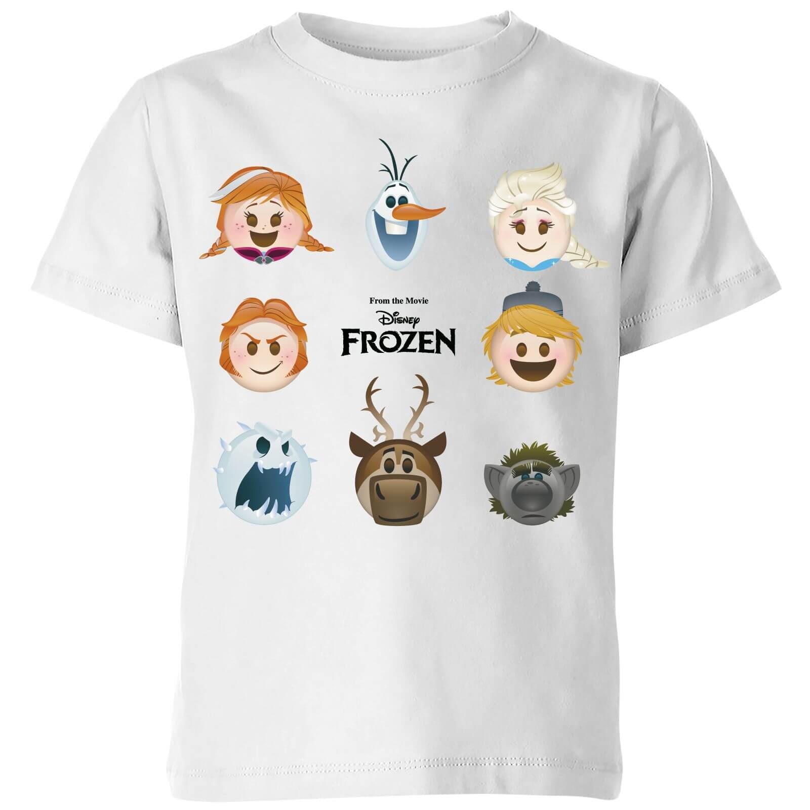 4badc69e4 Camiseta Disney Frozen Personajes Emoji - Niño - Blanco Clothing ...