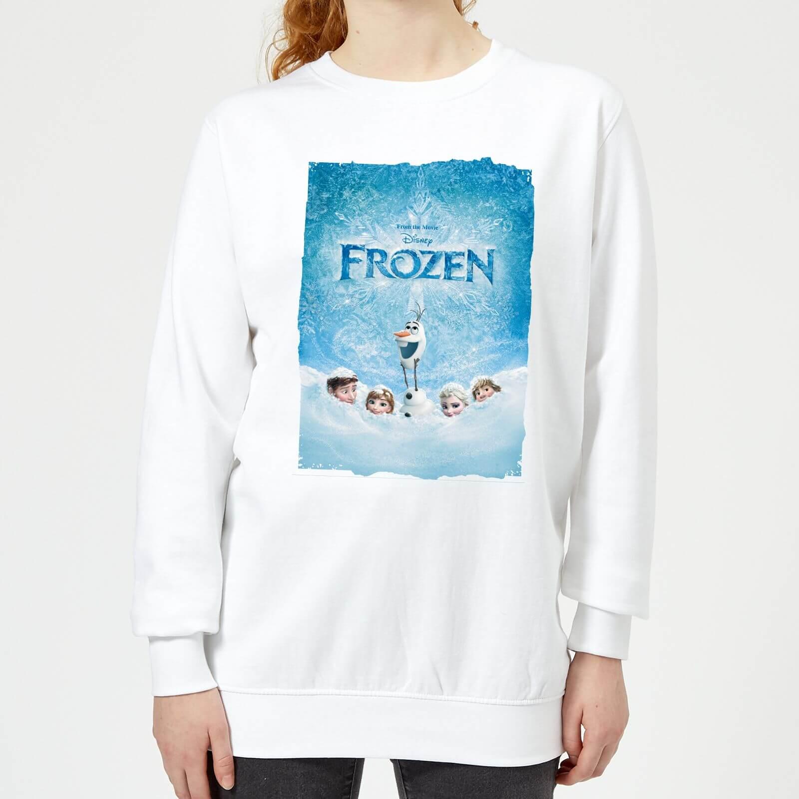 Frozen Snow Poster Dames Trui Grijs | Zavvi.nl
