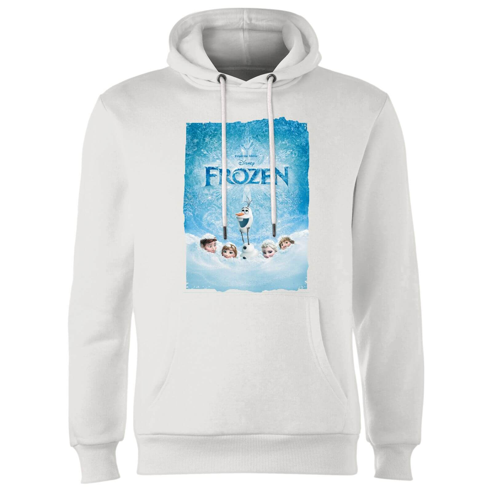 Frozen Snow Poster Hoodie - White