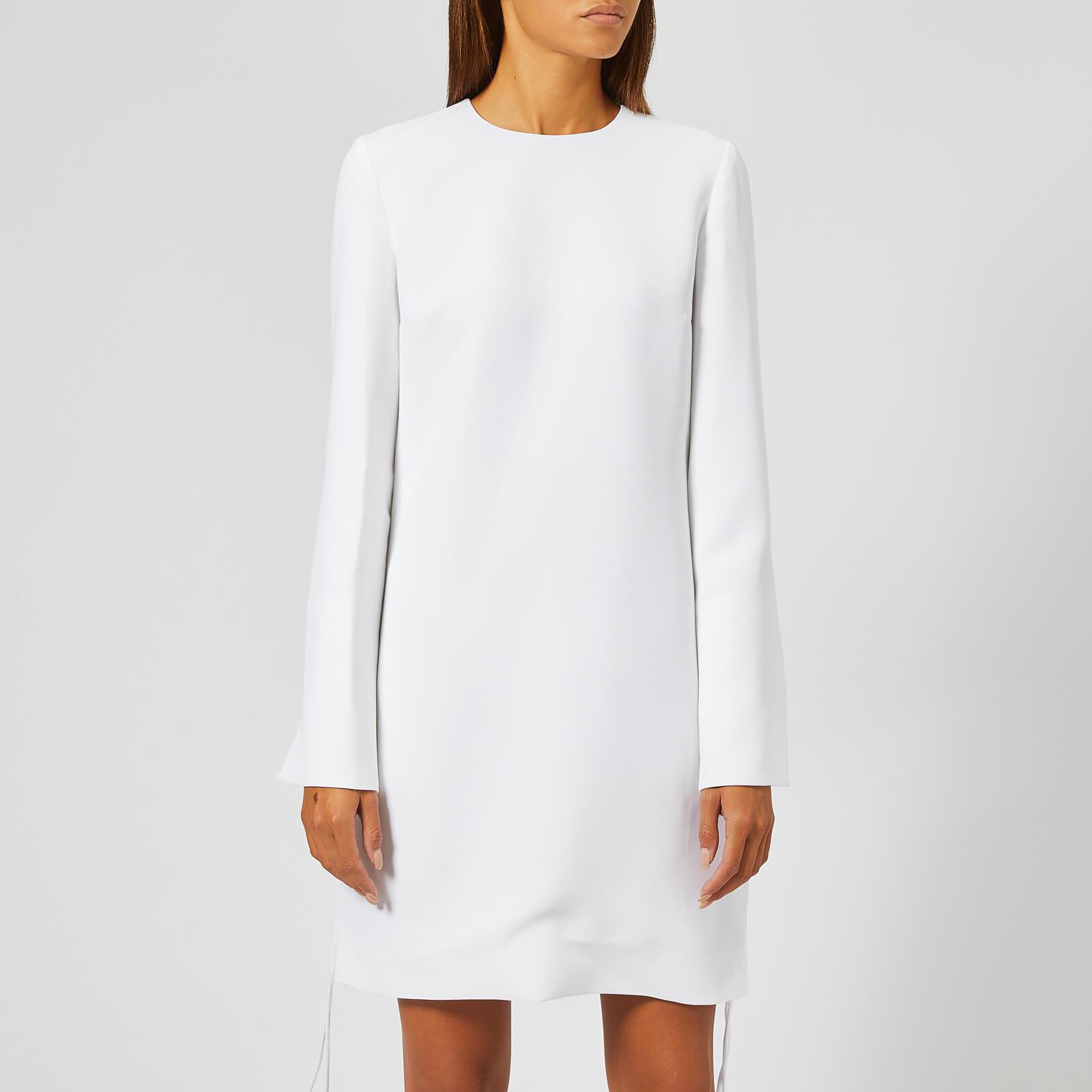 Victoria Victoria Beckham Women S Soft Crepe Tie Cuff Shift Dress White