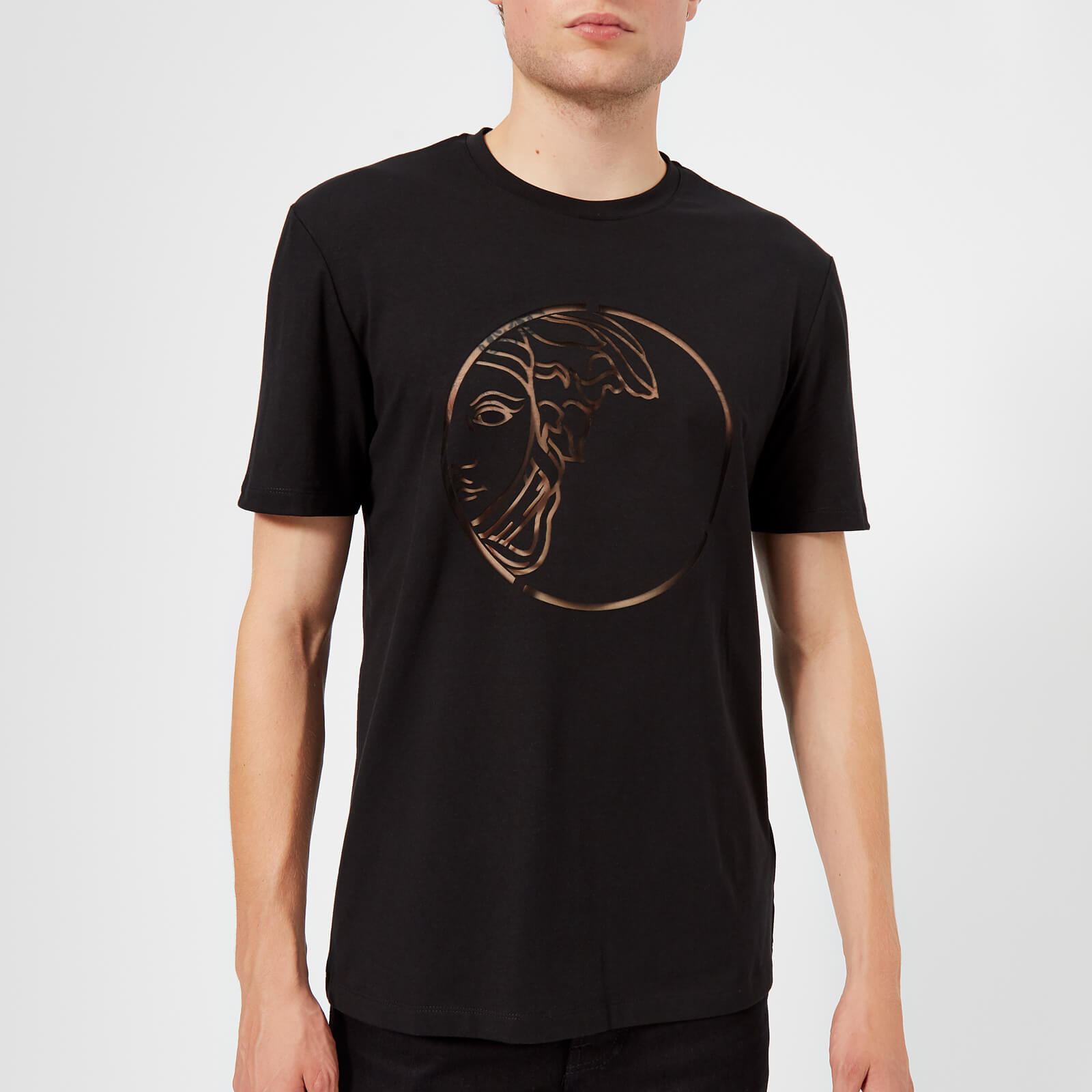 39a7d8bd1fe Versace Collection Men s Medusa Logo T-Shirt - Nero - Free UK Delivery over  £50