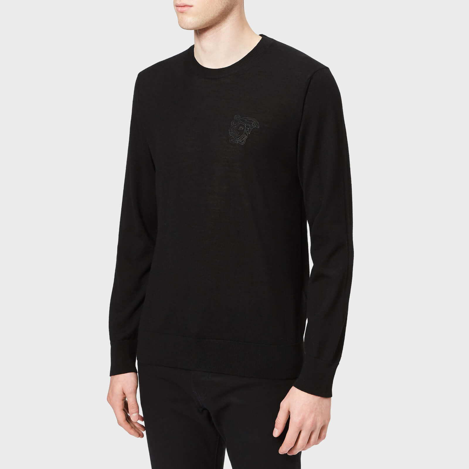 6e98a28e4aa Versace Collection Men's Crew Neck Knit Jumper - Nero