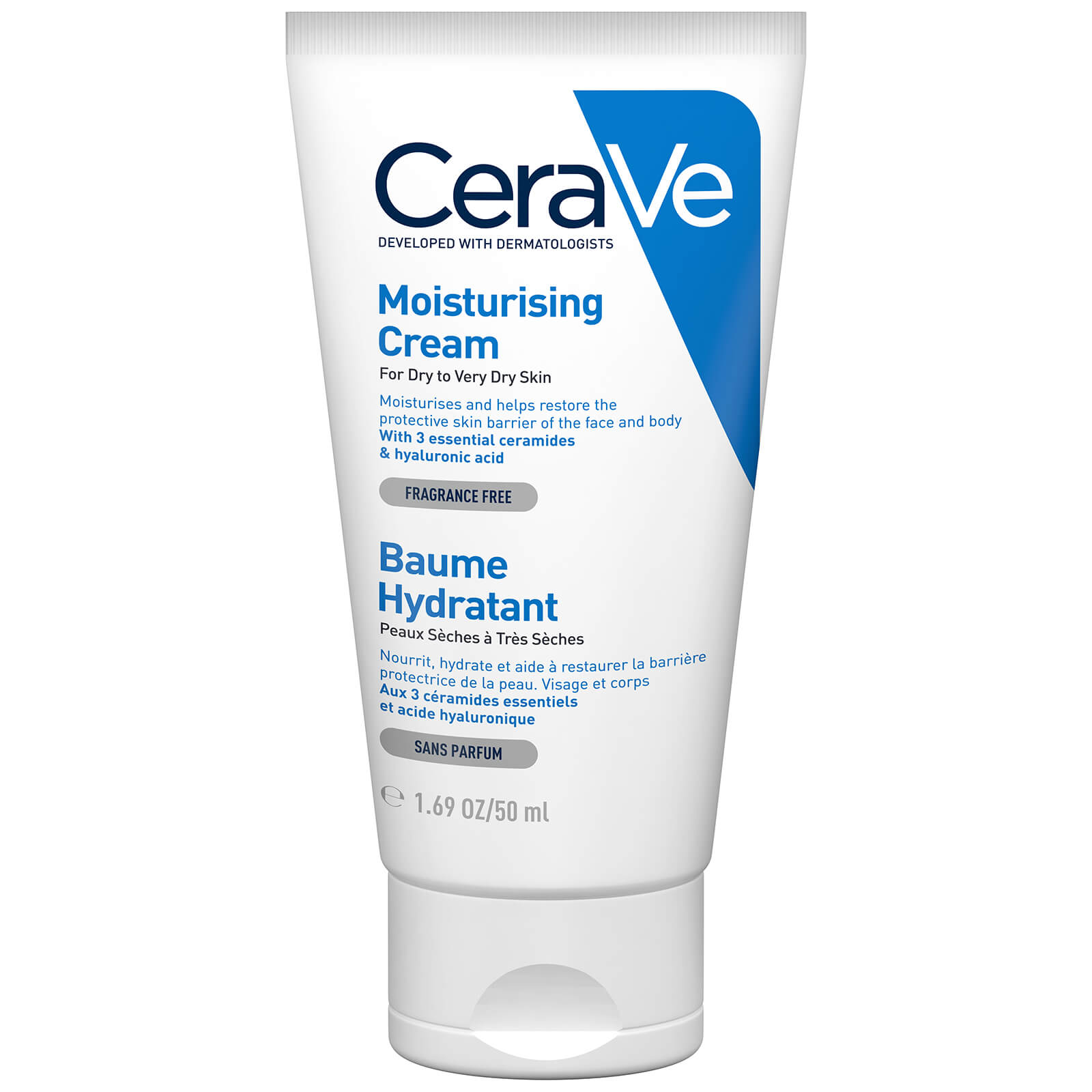 CeraVe Moisturising Cream 50ml | Free Shipping | Lookfantastic