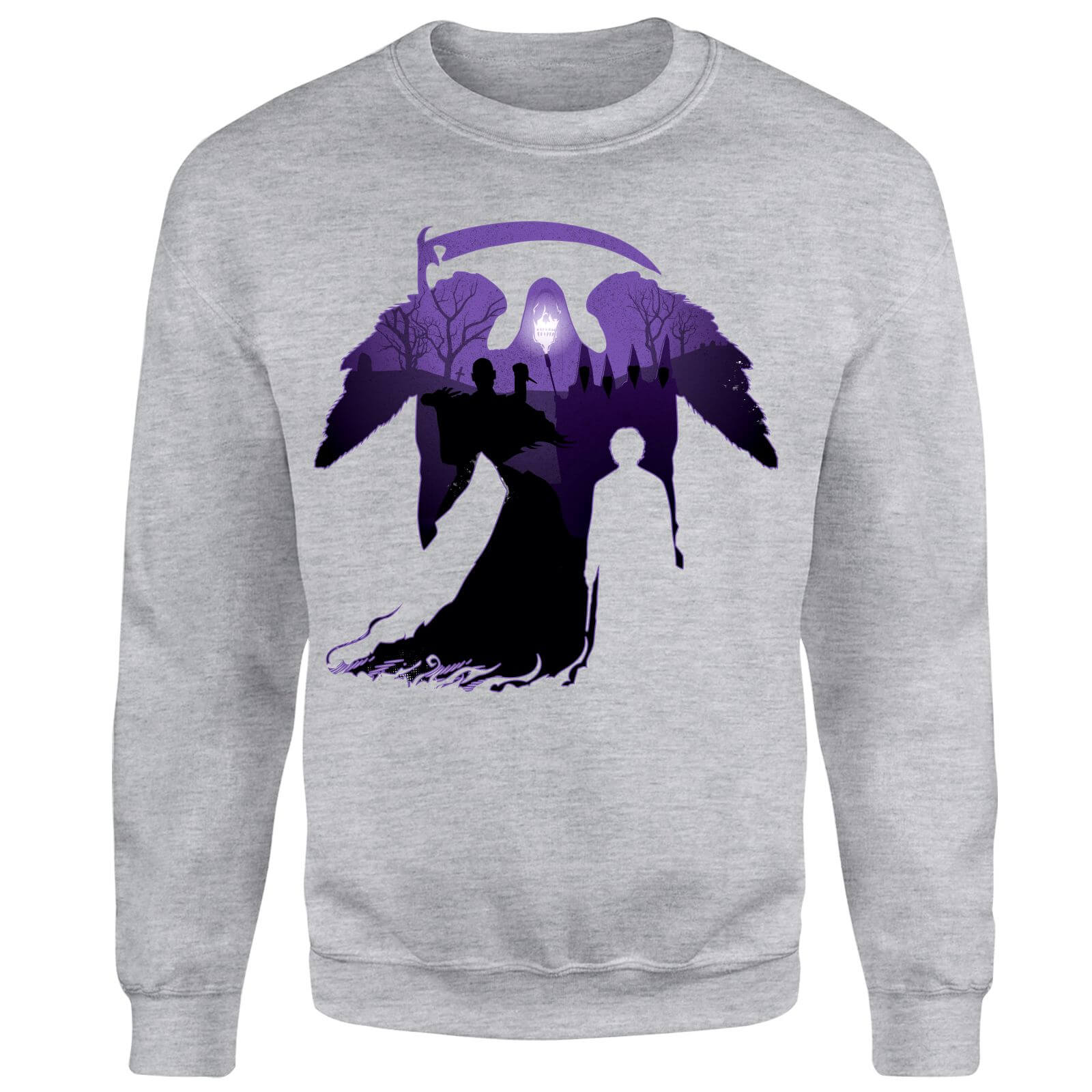 Harry Potter Graveyard Silhouette Sweatshirt - Grey