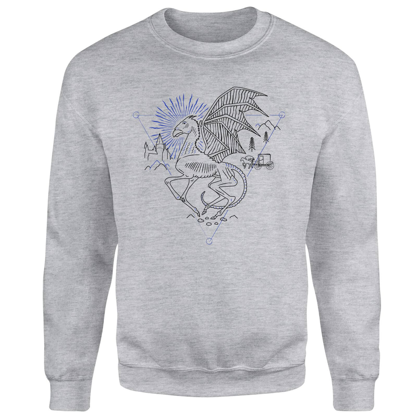 Harry Potter Thestral Line Art Sweatshirt - Grey