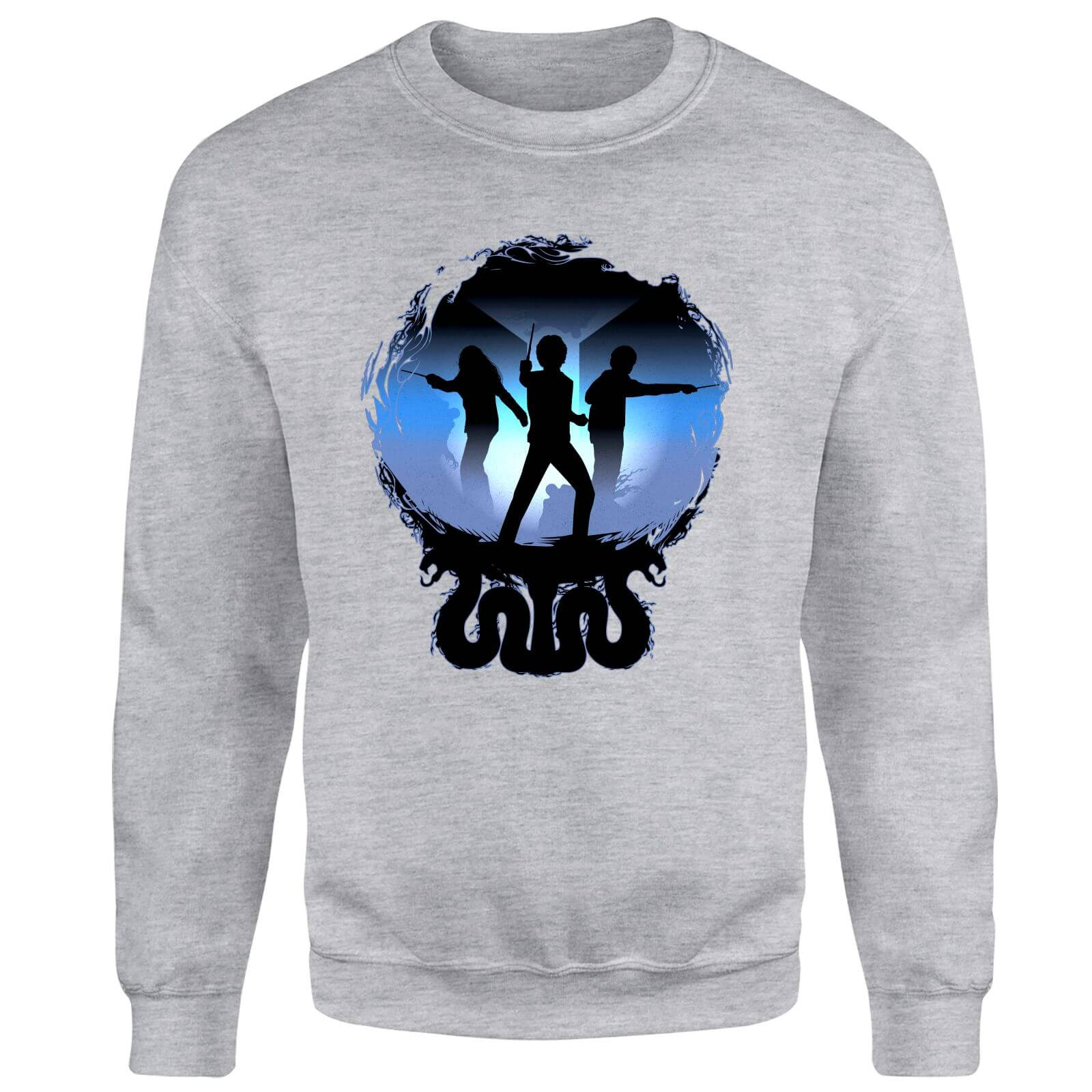 Harry Potter Silhouette Attack Sweatshirt - Grey