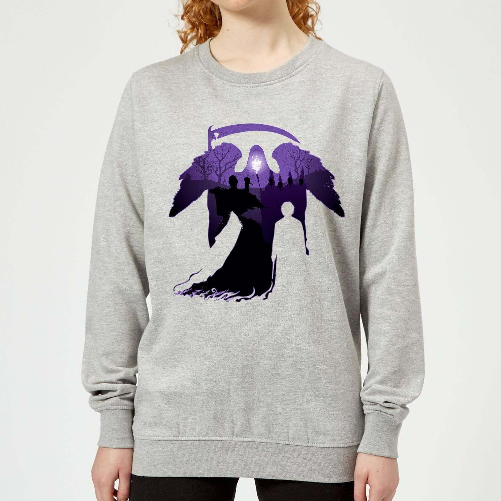 detailed look 62c11 8e50f Harry Potter Graveyard Silhouette Damen Pullover - Grau