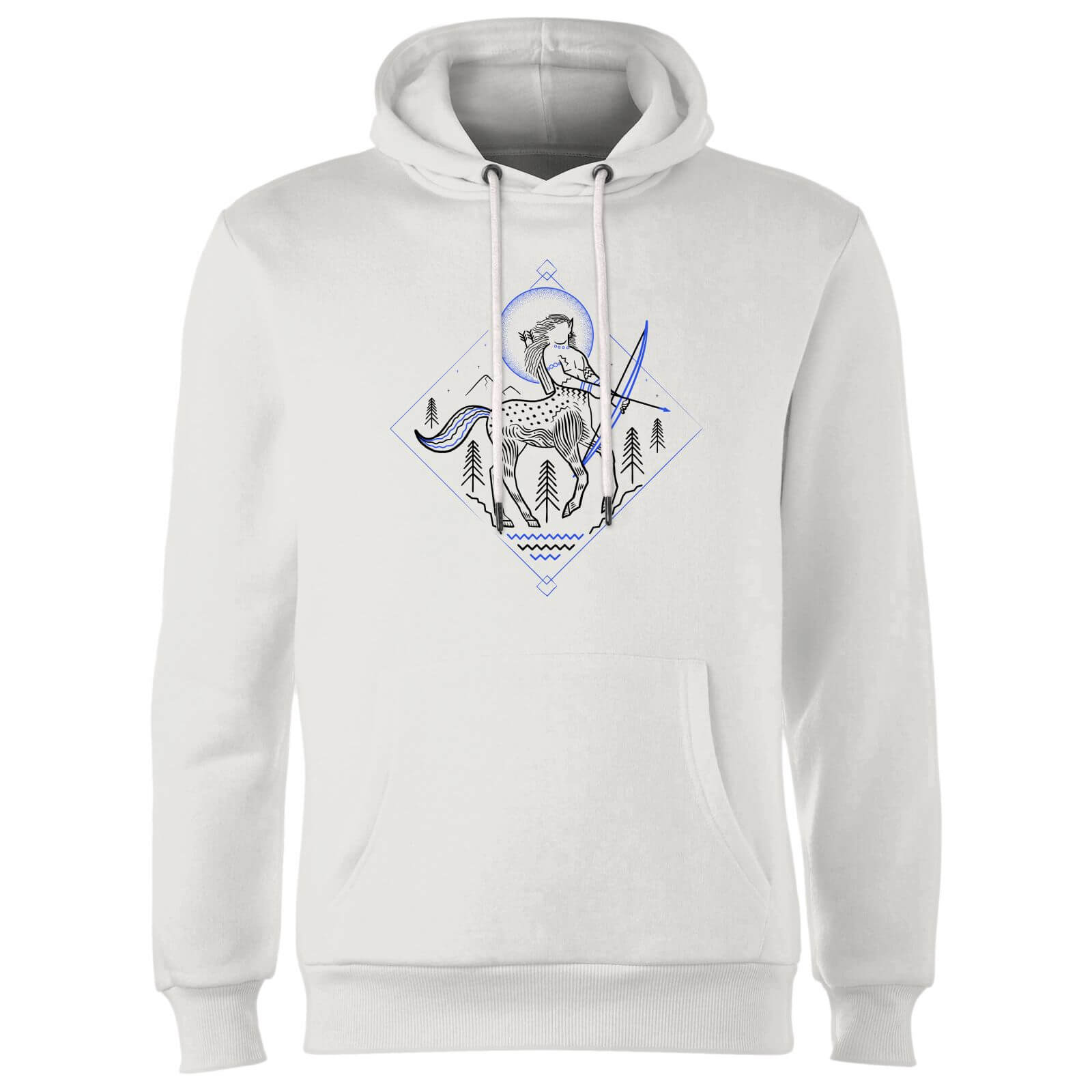 Harry Potter Centaur Line Art Hoodie - White