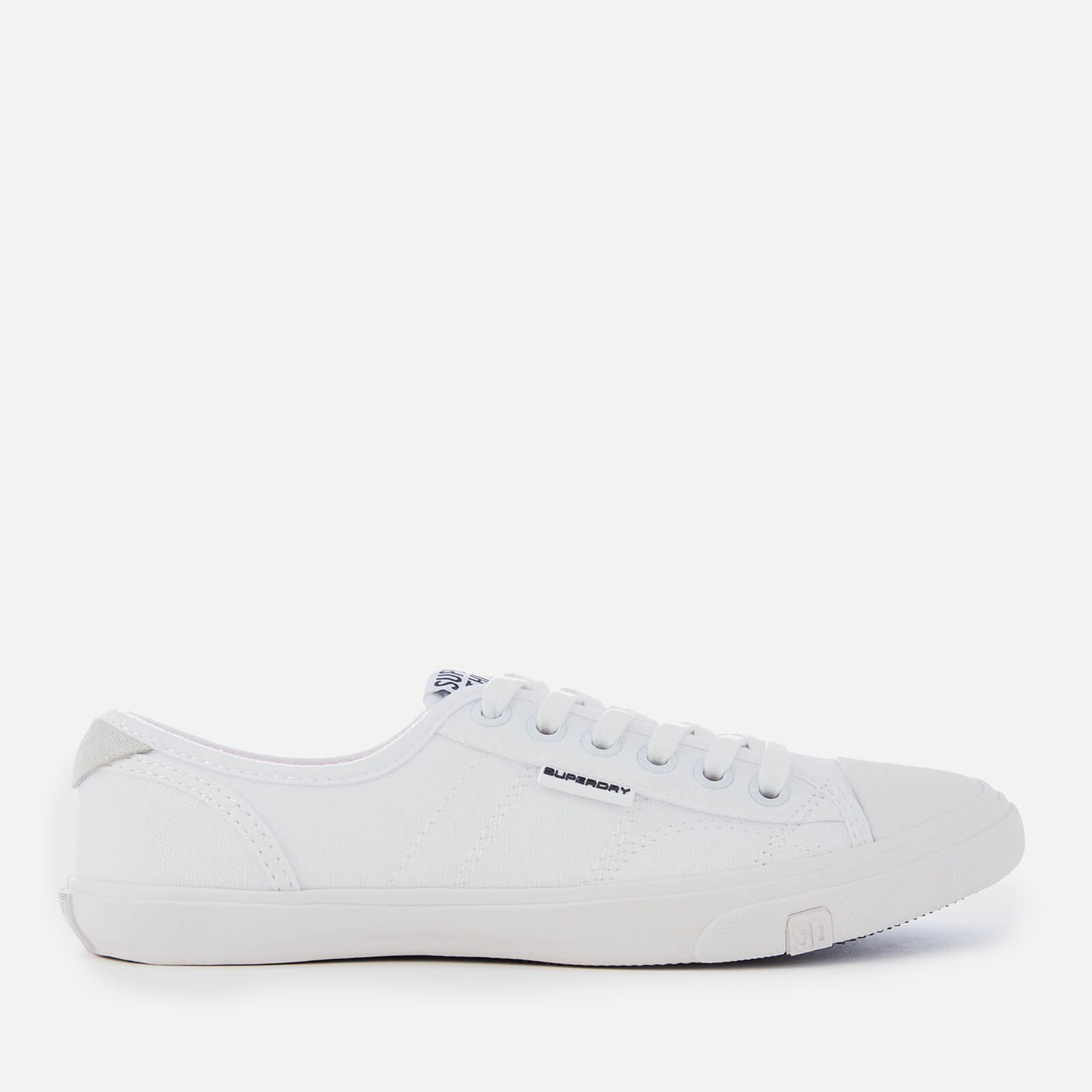Low Pro Canvas Trainers - Optic White