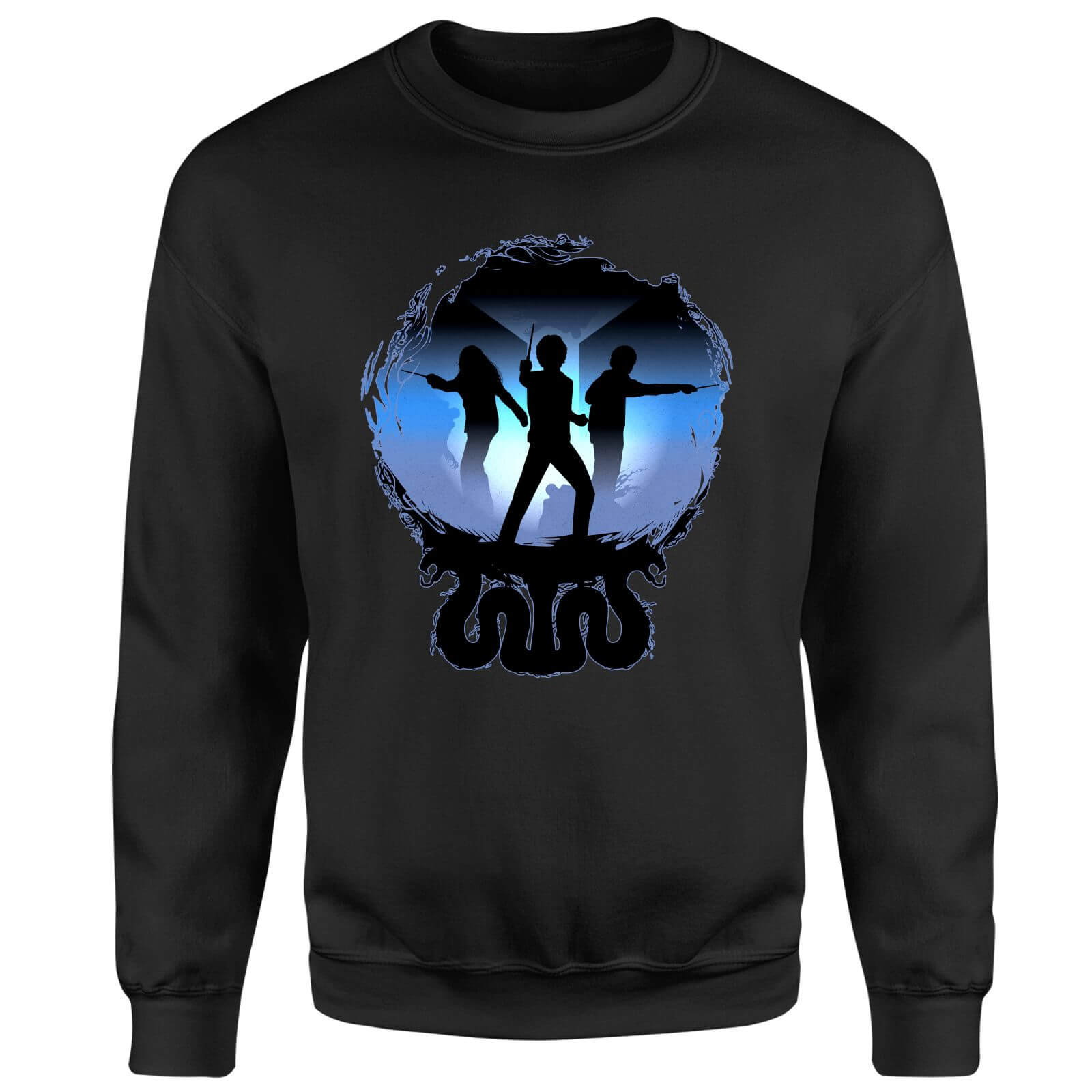Harry Potter Silhouette Attack Sweatshirt - Black