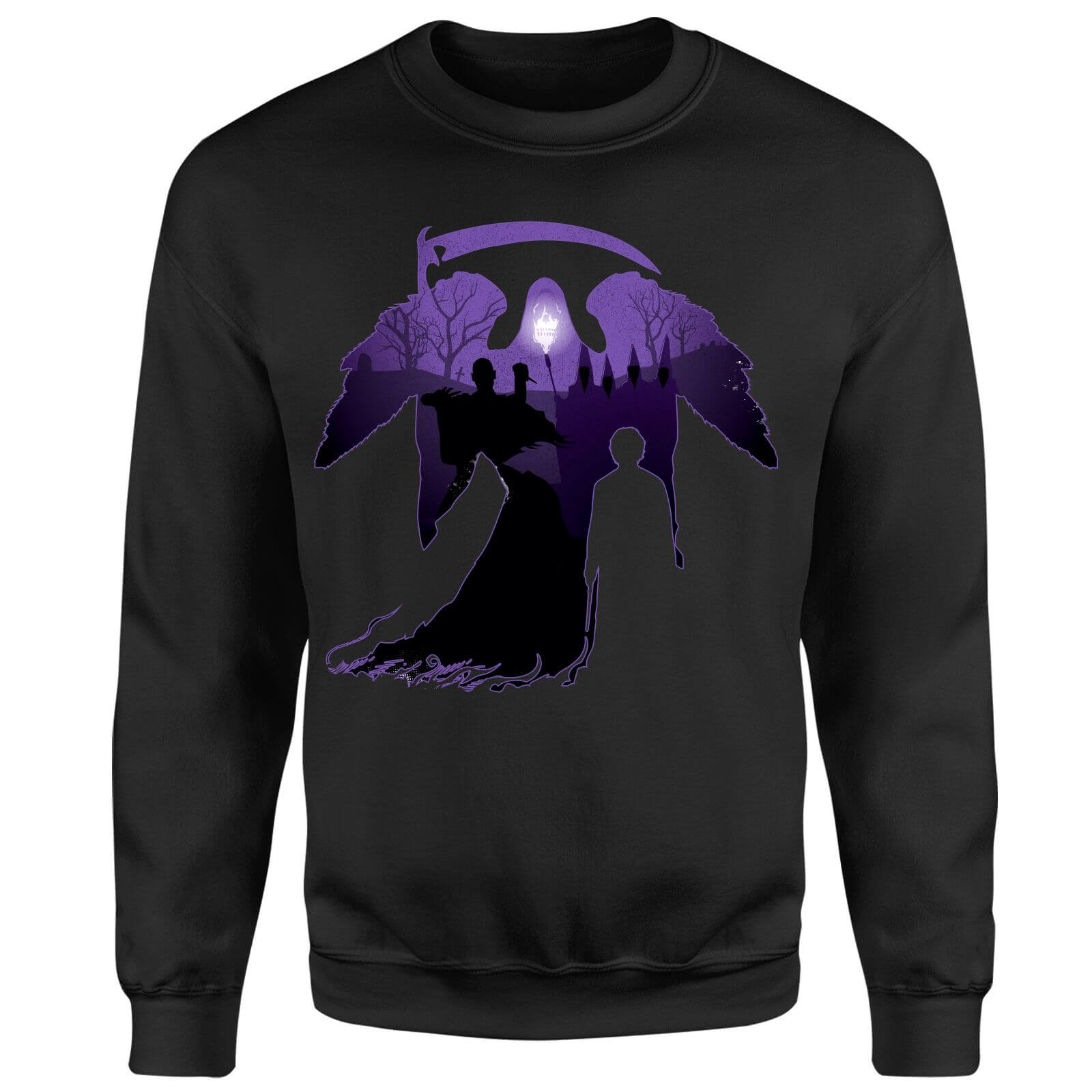 Harry Potter Graveyard Silhouette Sweatshirt - Black